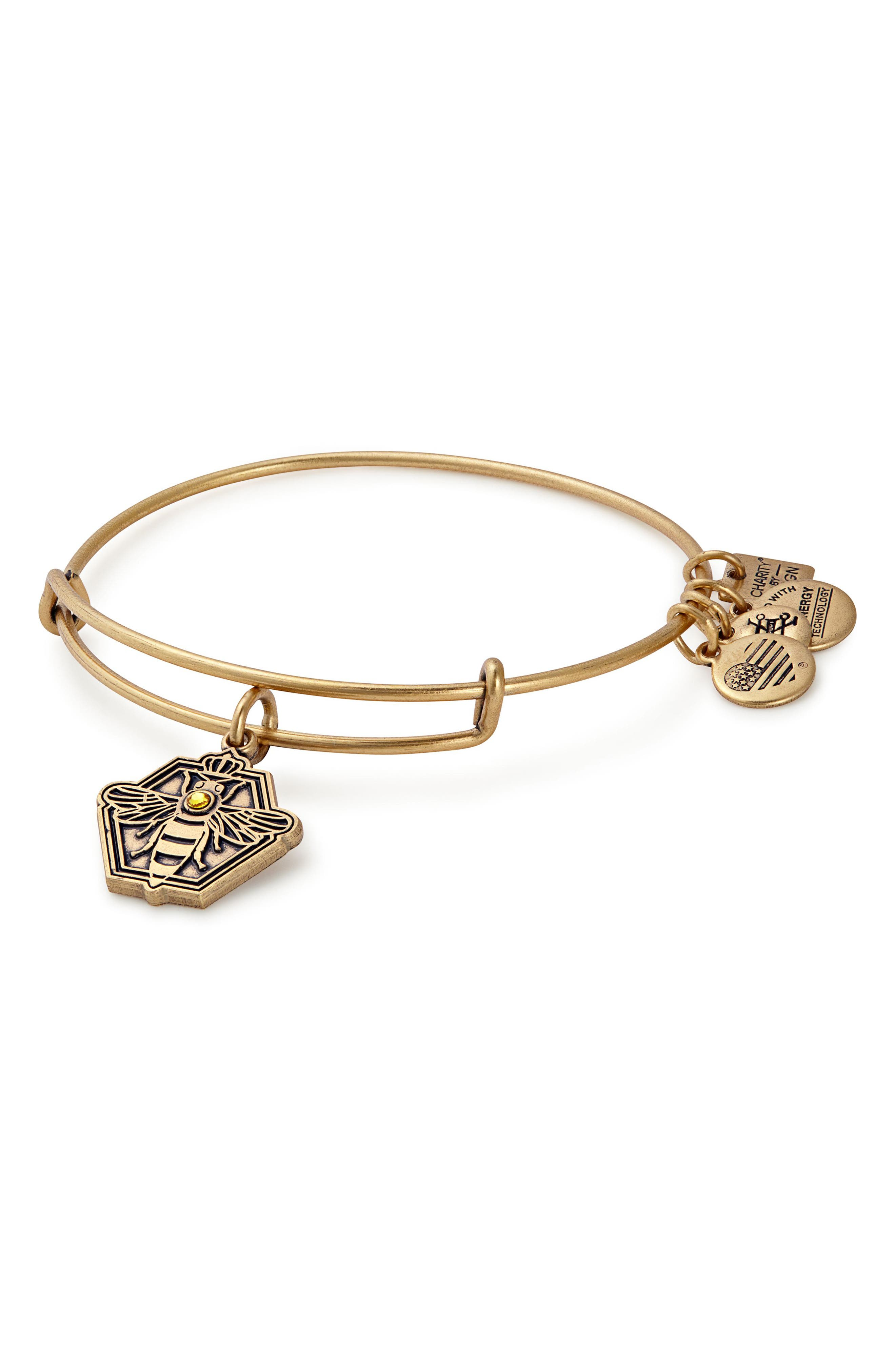 Charity by Design Queen Bee Adjustable Bangle,                             Main thumbnail 2, color,