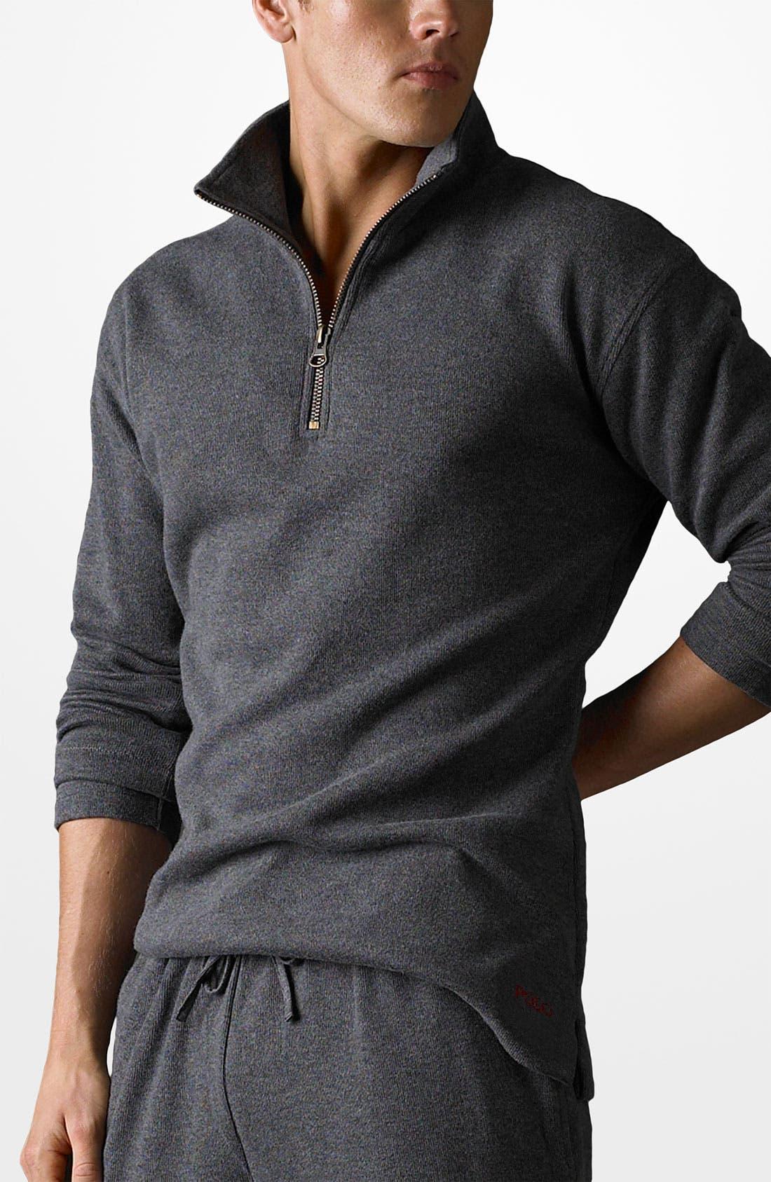 French Rib Knit Half Zip Pullover, Main, color, 021
