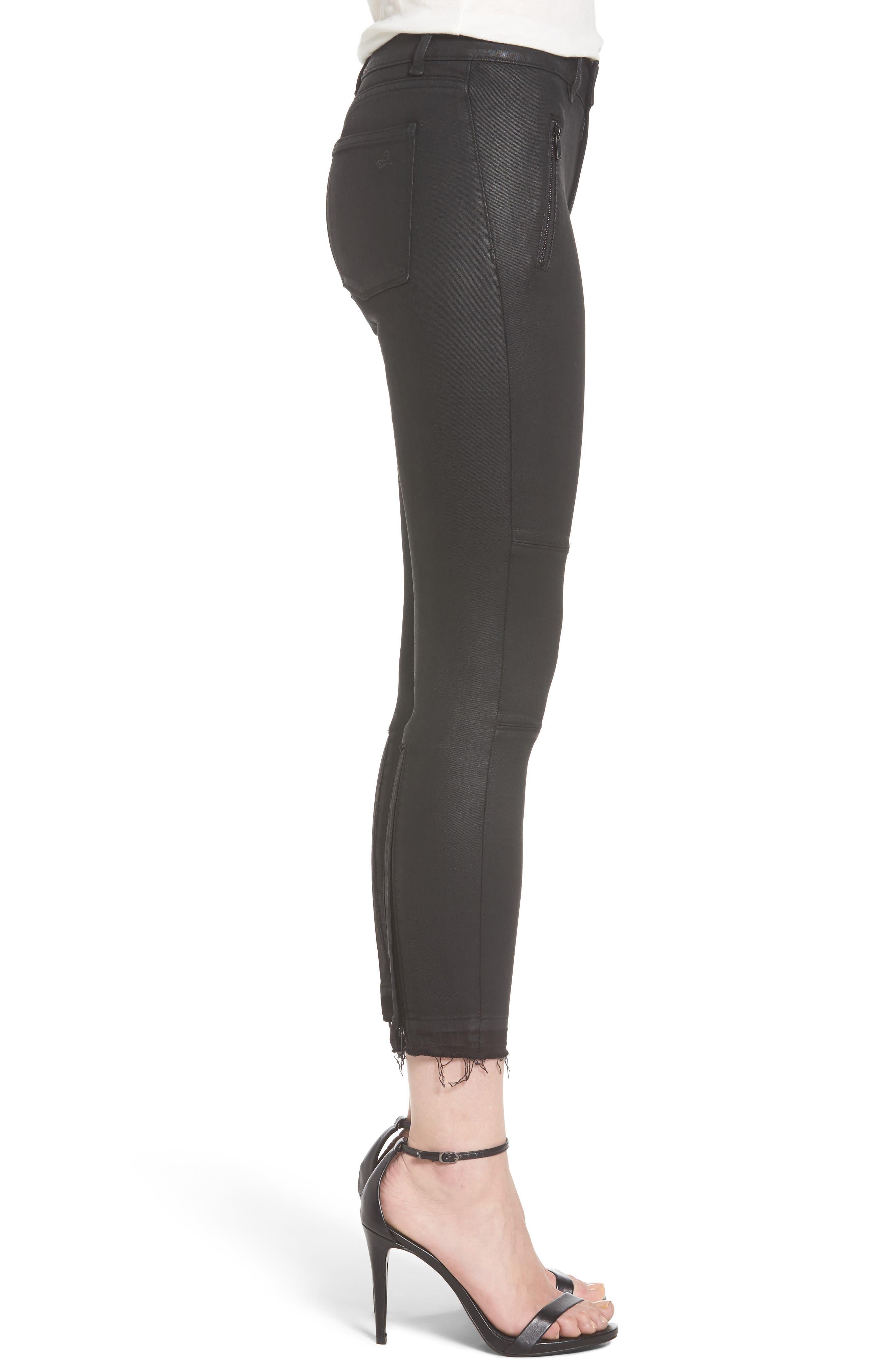 Florence Instasculpt Crop Skinny Jeans,                             Alternate thumbnail 3, color,                             001