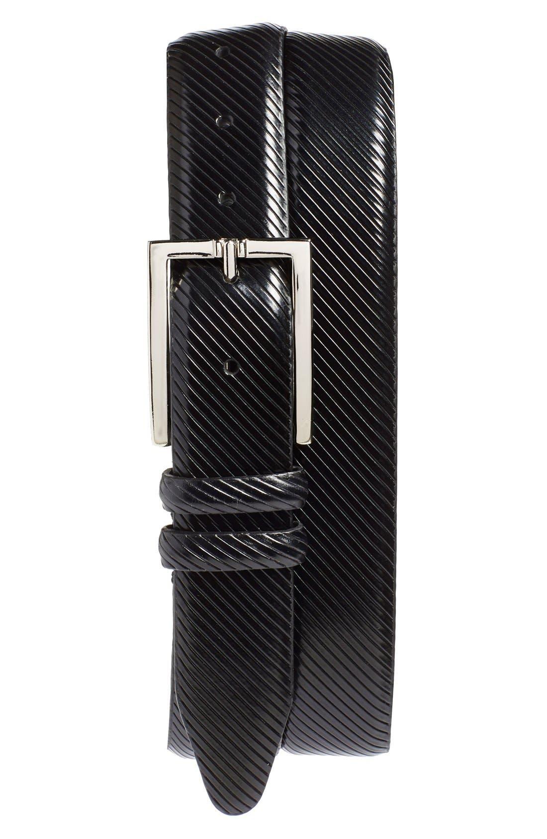 'Righello' Leather Belt, Main, color, 001