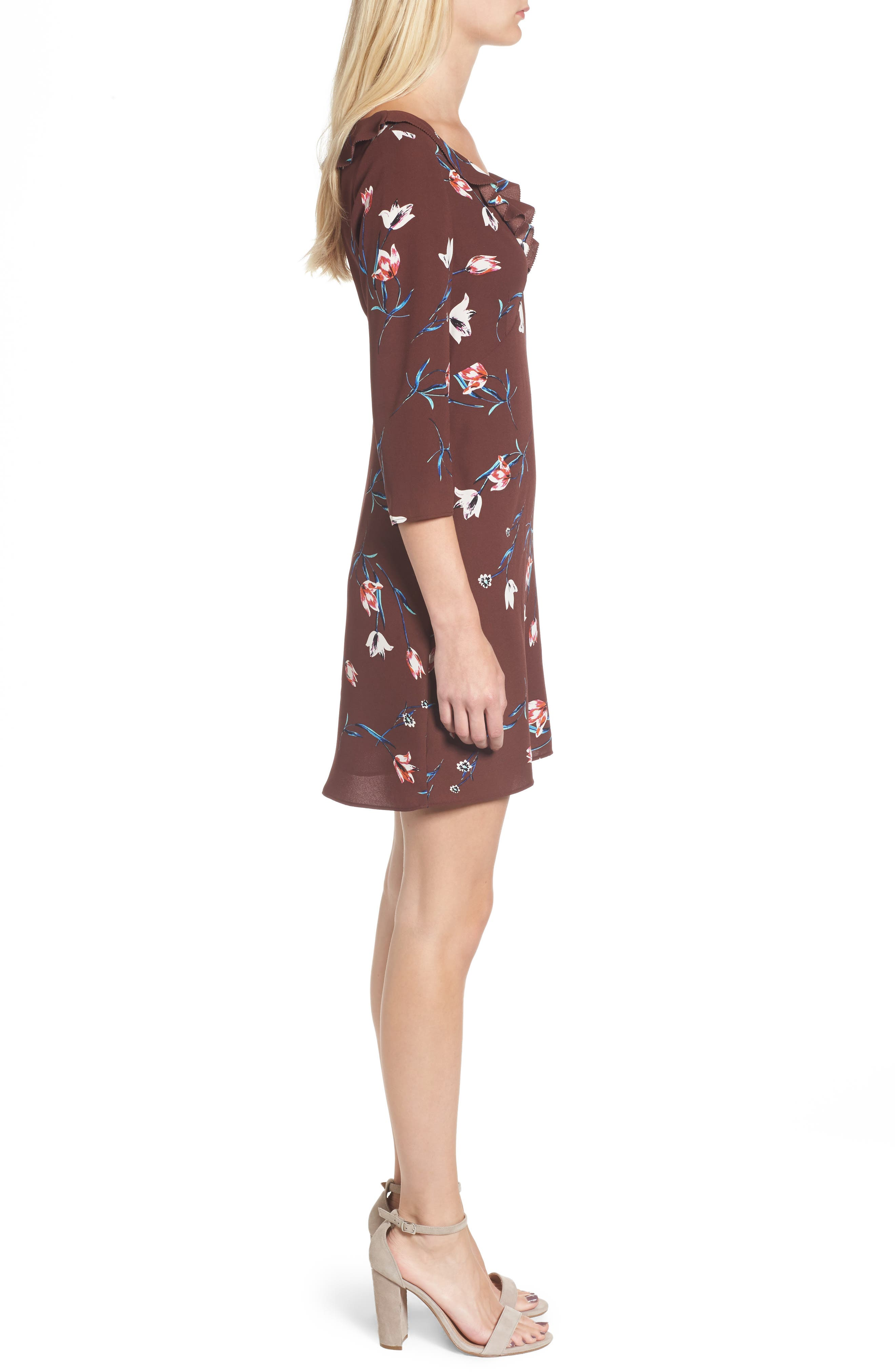 Signe Shift Dress,                             Alternate thumbnail 3, color,