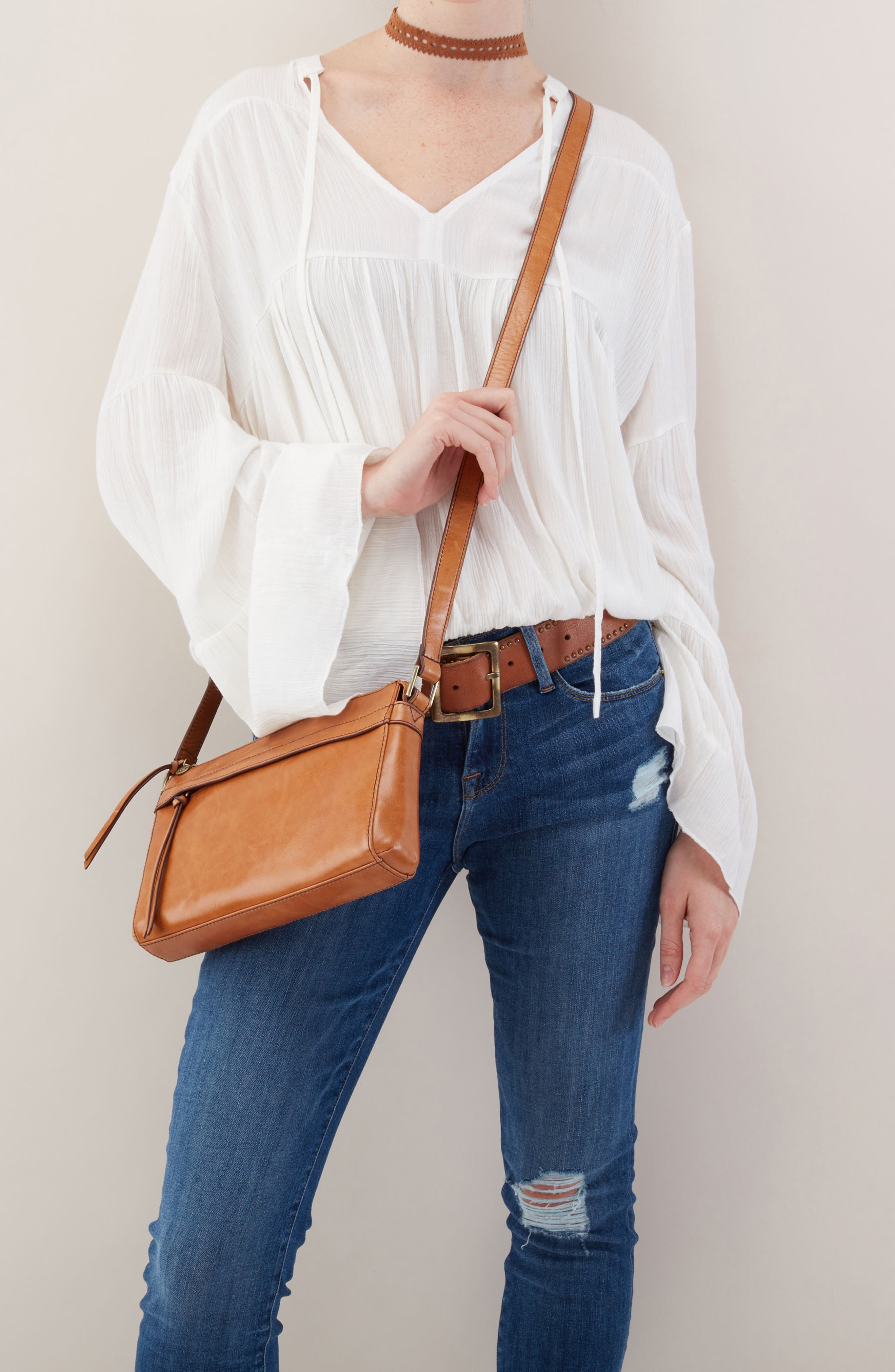 Tobey Leather Crossbody Bag,                             Alternate thumbnail 11, color,
