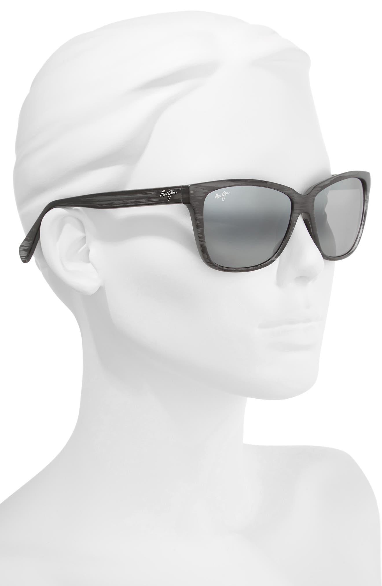56mm Jacaranda Polarized Sunglasses,                             Alternate thumbnail 6, color,