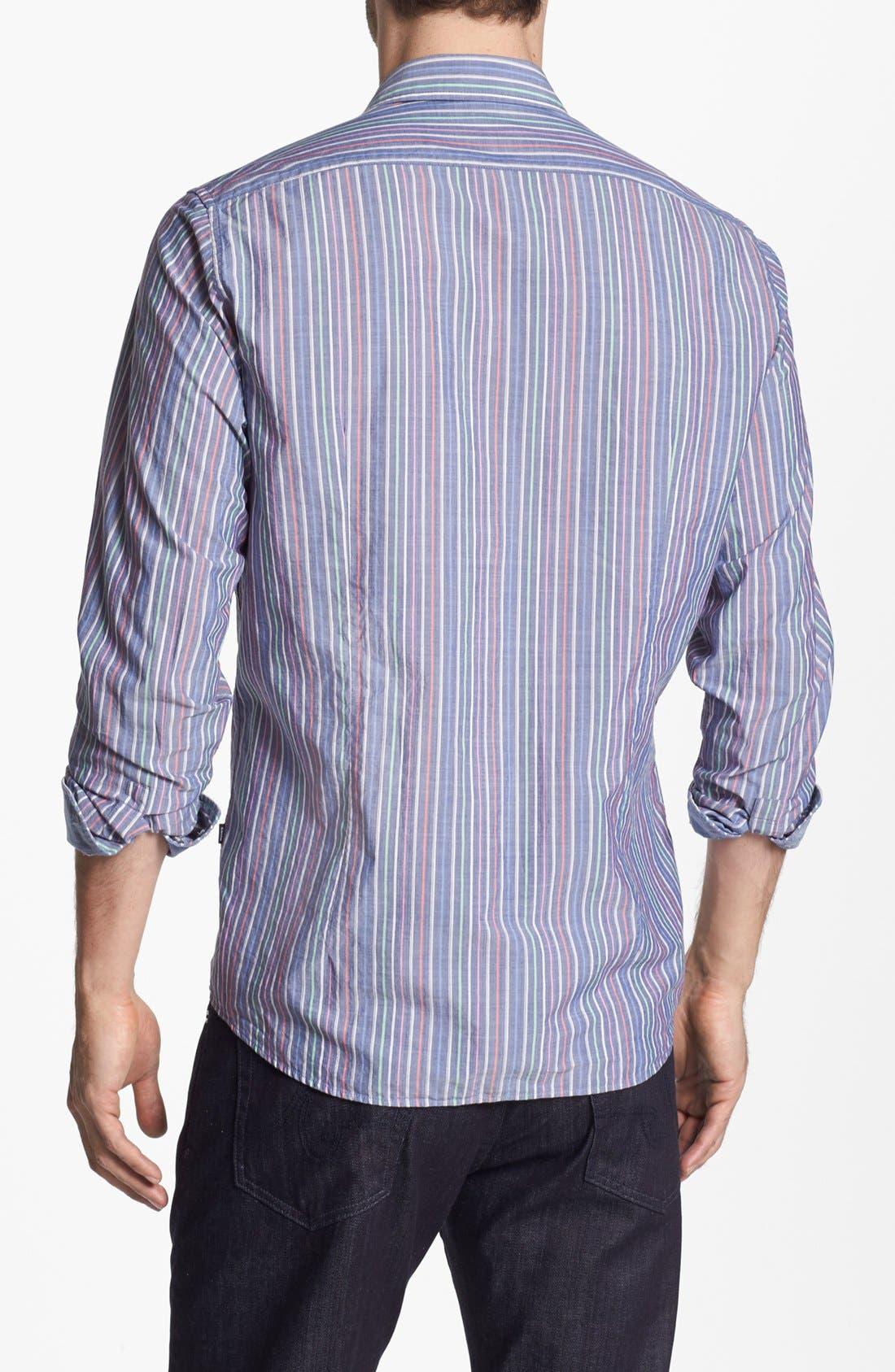 BOSS,                             HUGO BOSS 'Lucas' Regular Fit Sport Shirt,                             Alternate thumbnail 2, color,                             460