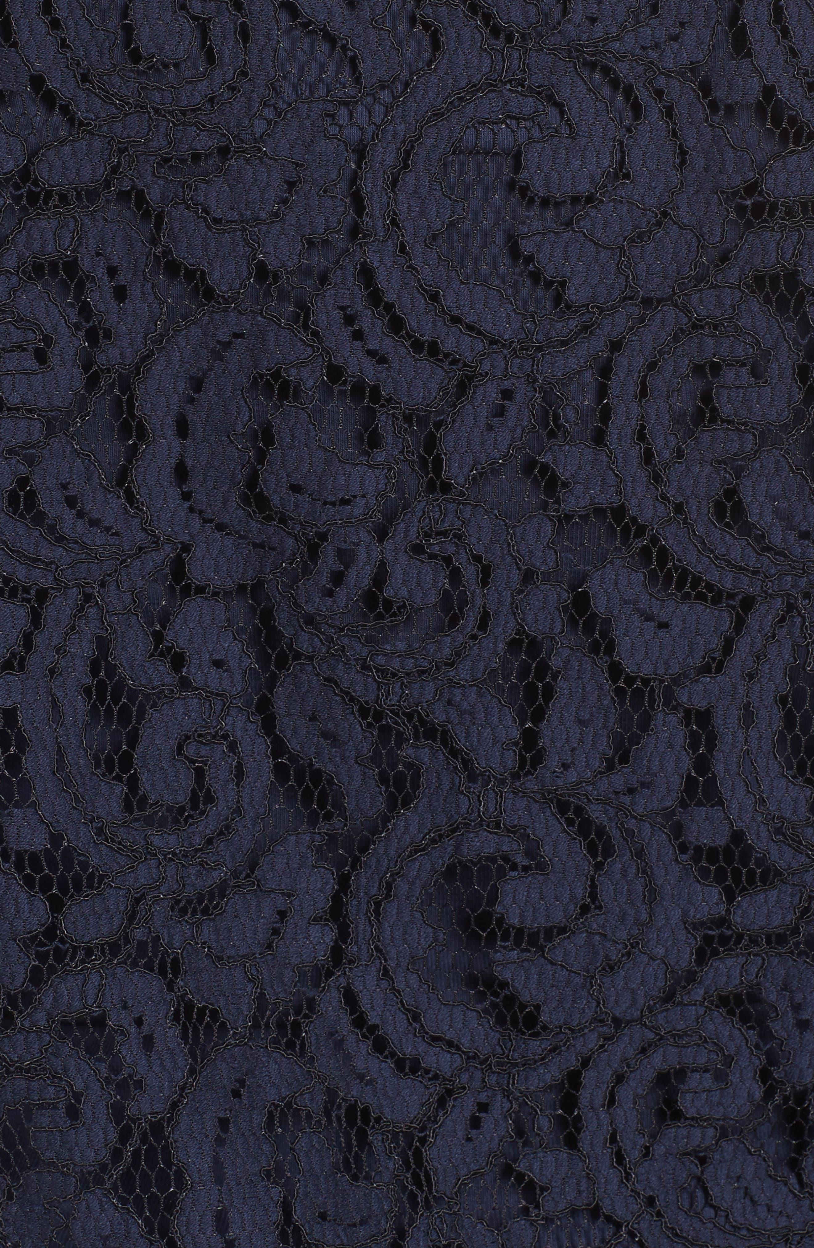 Ribbed Trim Lace Top,                             Alternate thumbnail 5, color,                             401