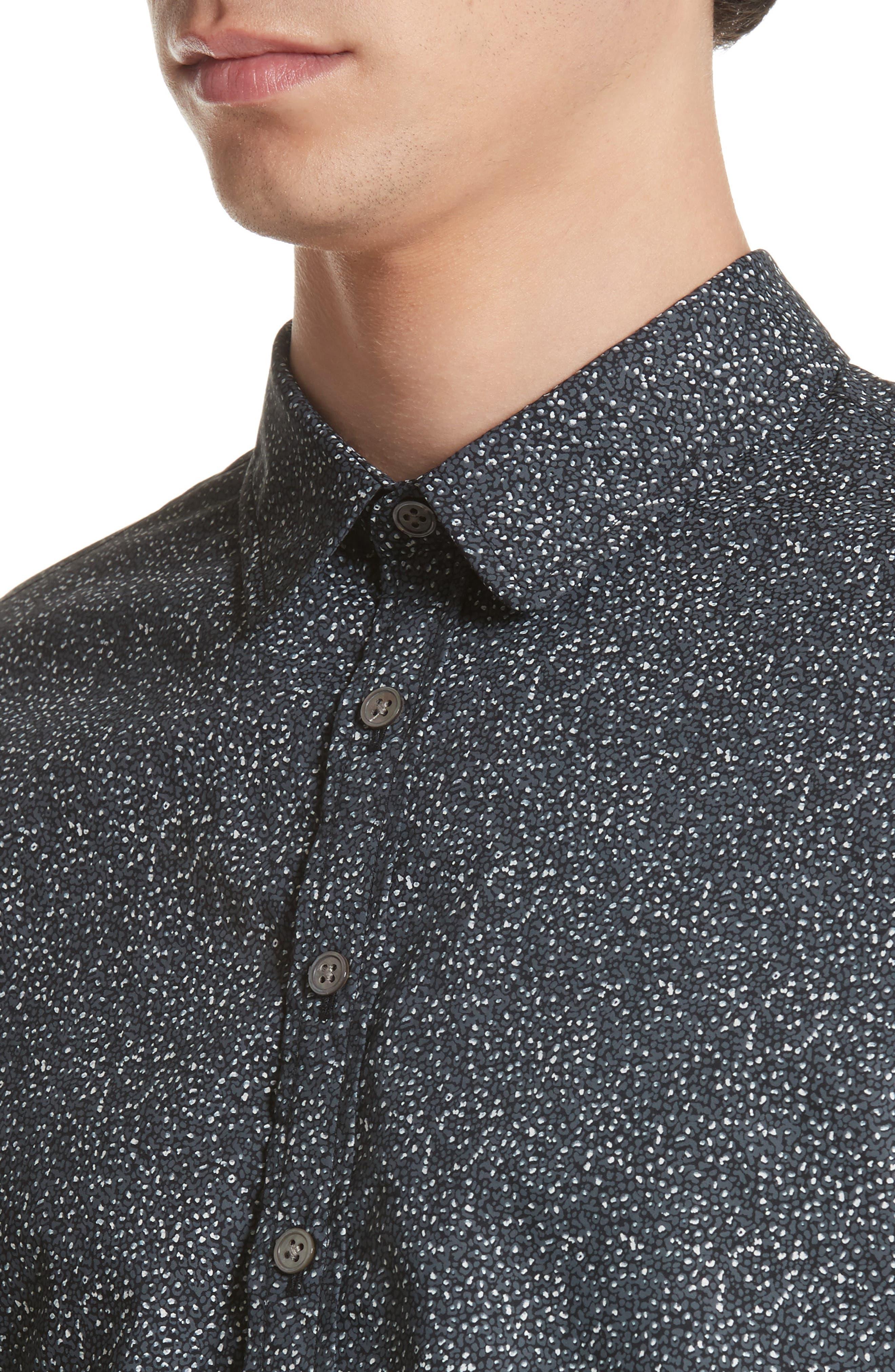 Dot Print Shirt,                             Alternate thumbnail 5, color,                             006
