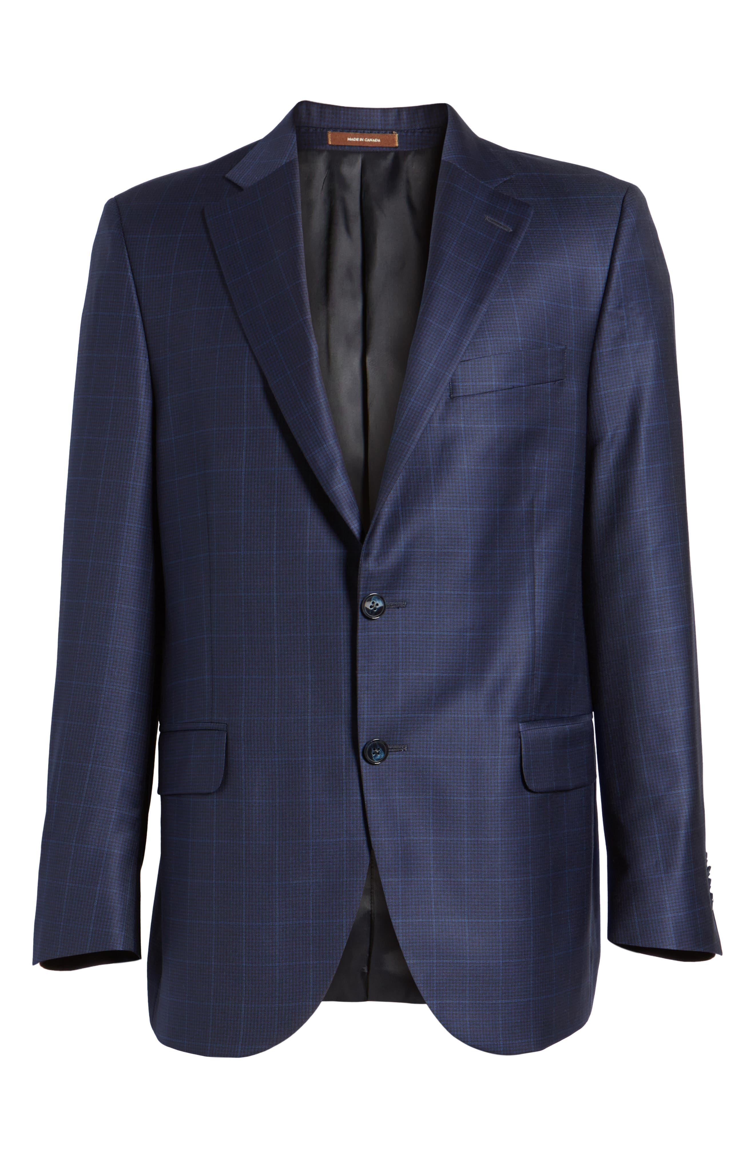 Classic Fit Windowpane Wool Sport Coat,                             Alternate thumbnail 5, color,                             410