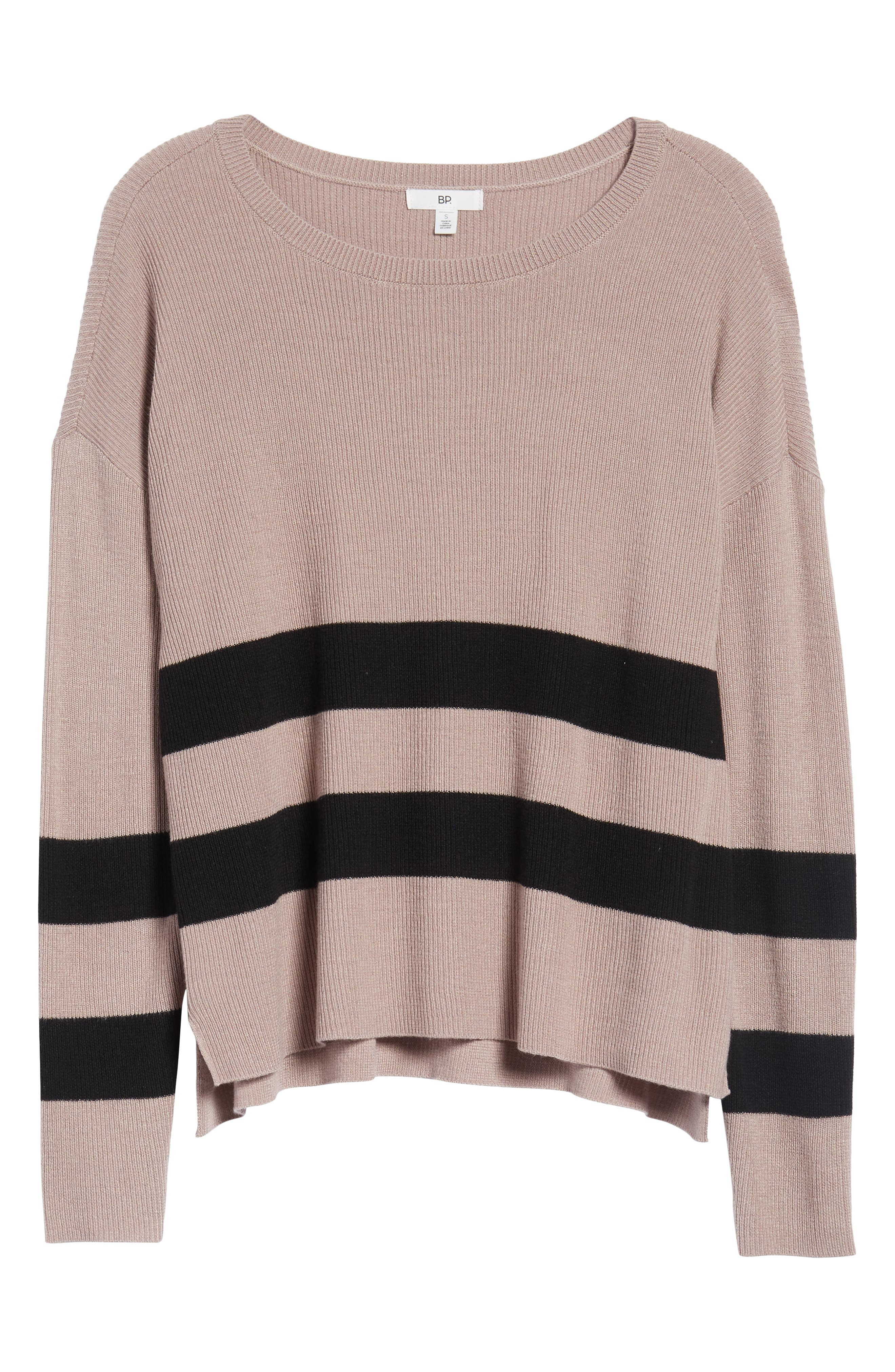 Varsity Stripe Sweater,                             Alternate thumbnail 6, color,                             030