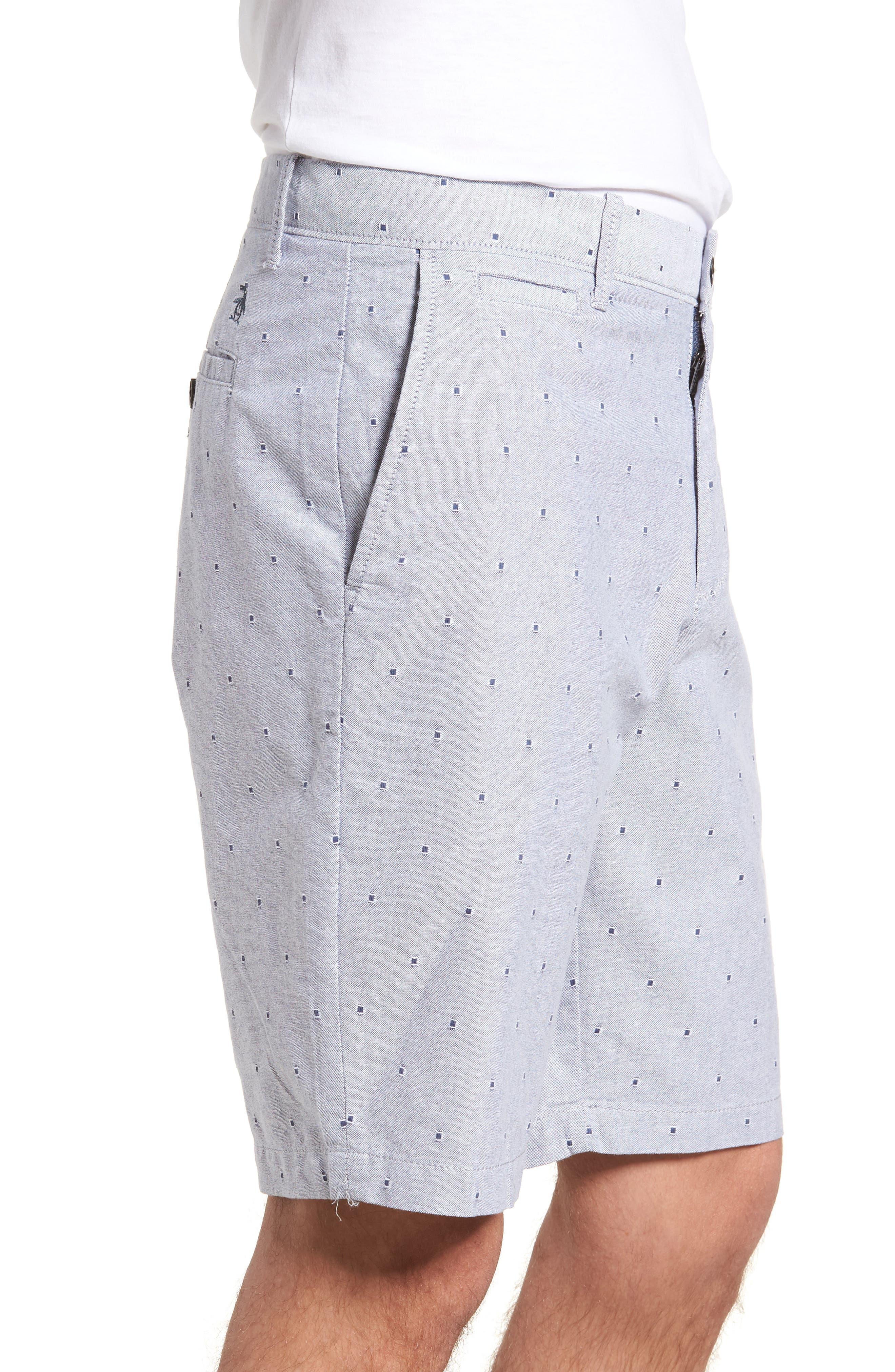 Dobby Dot Slim Fit Oxford Shorts,                             Alternate thumbnail 3, color,                             425