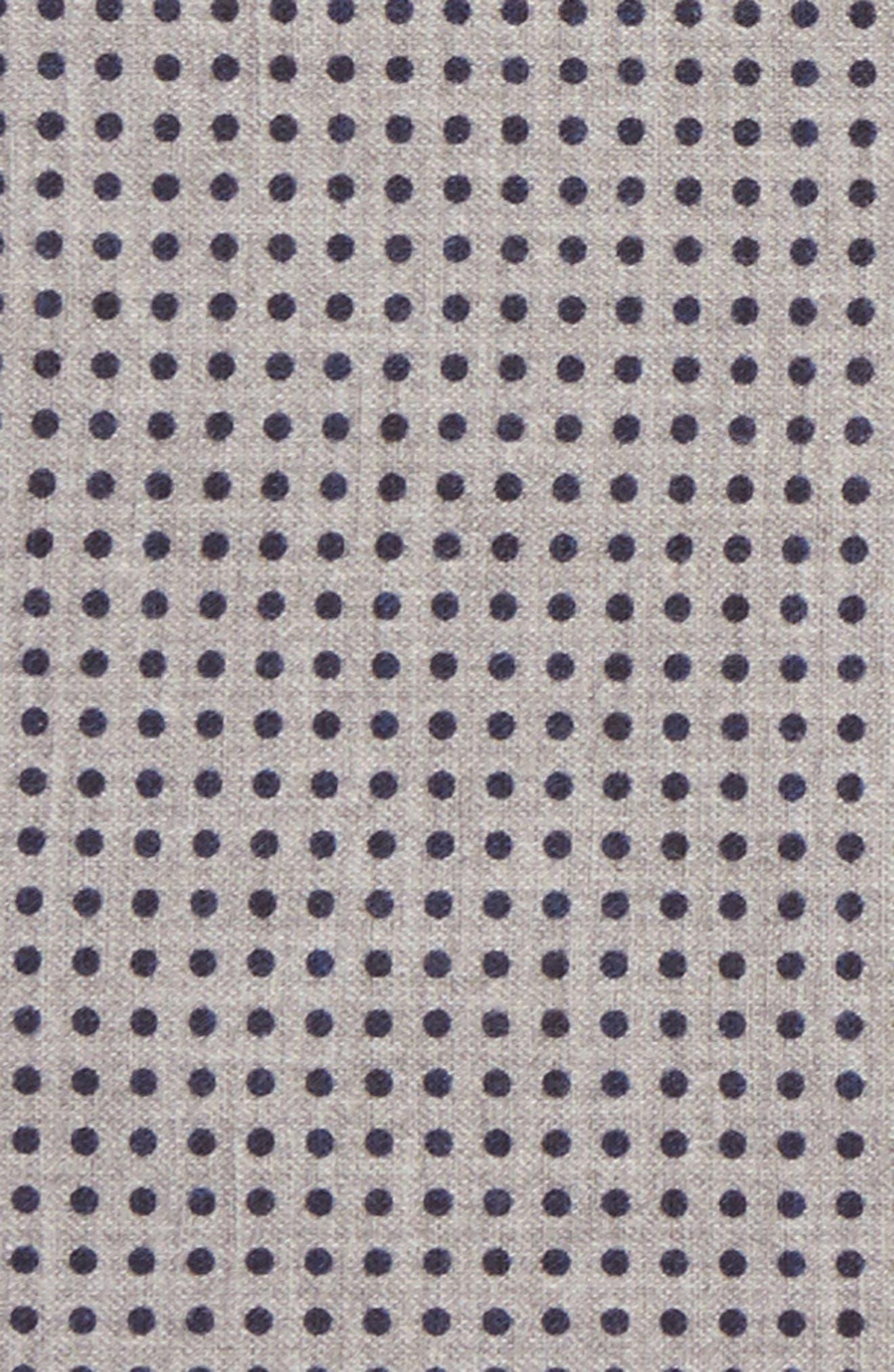 Dot Wool & Cotton Pocket Square,                             Alternate thumbnail 7, color,