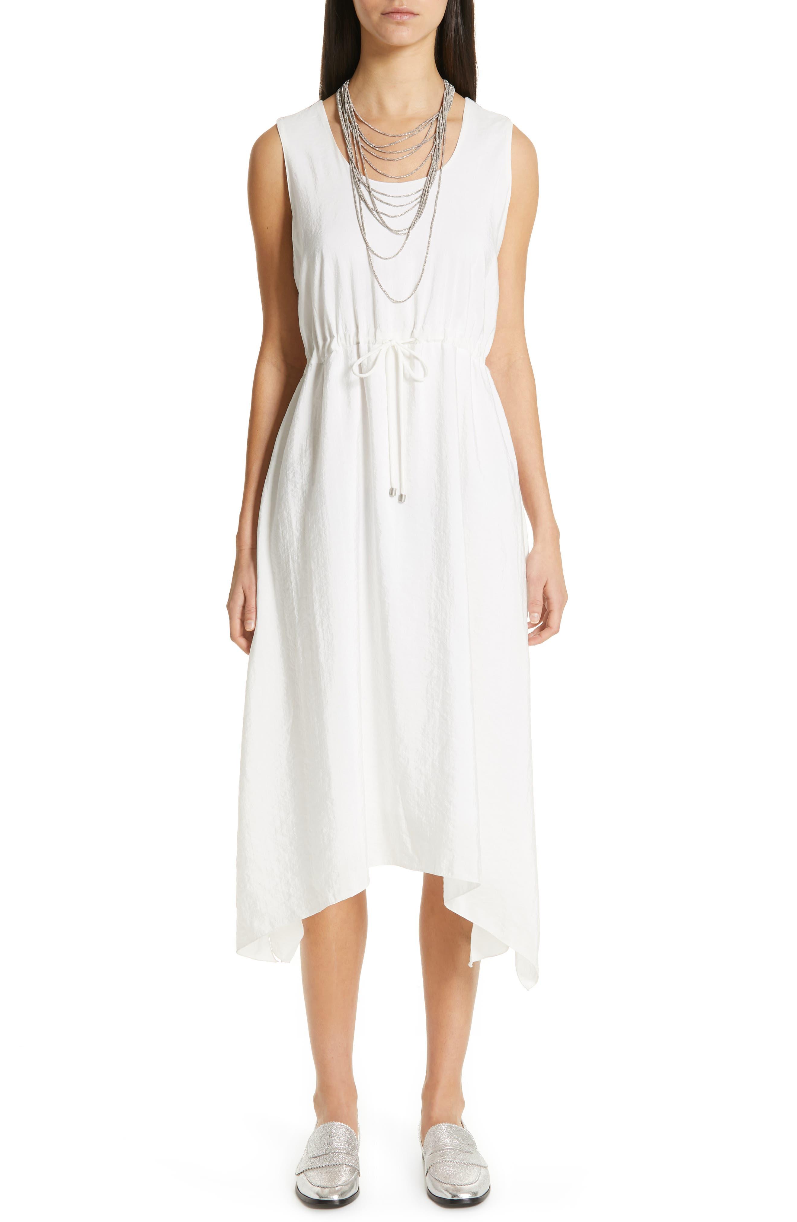 Fabiana Filippi Silk Blend Poplin Dress, 50 IT - White