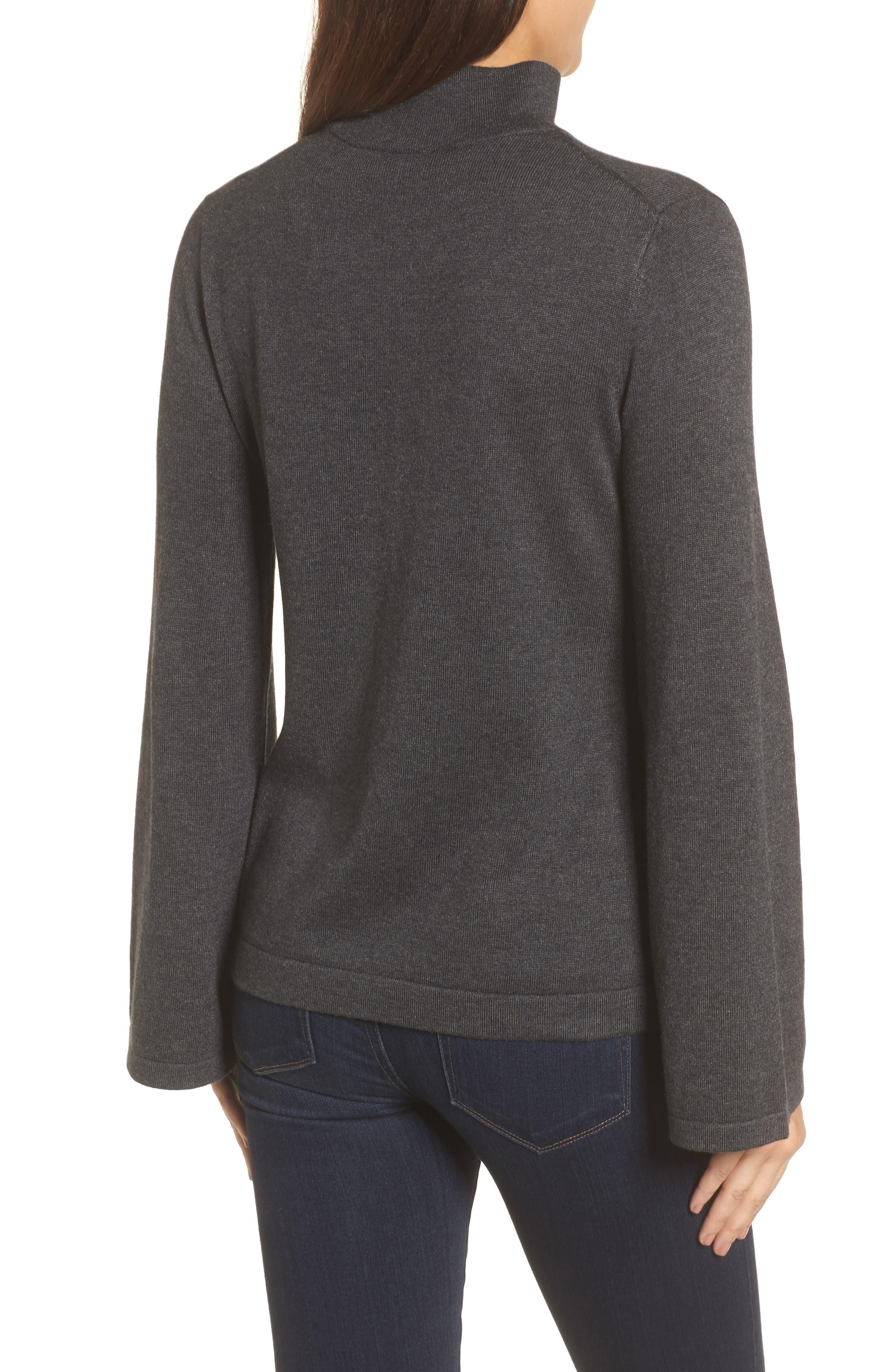 Bell Sleeve Choker Neck Sweater,                             Alternate thumbnail 7, color,
