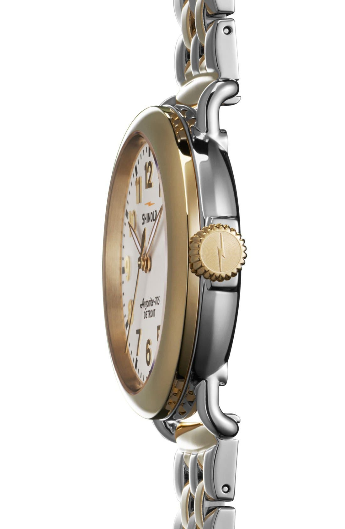 'The Runwell' Bracelet Watch, 36mm,                             Alternate thumbnail 3, color,                             GOLD/ SILVER