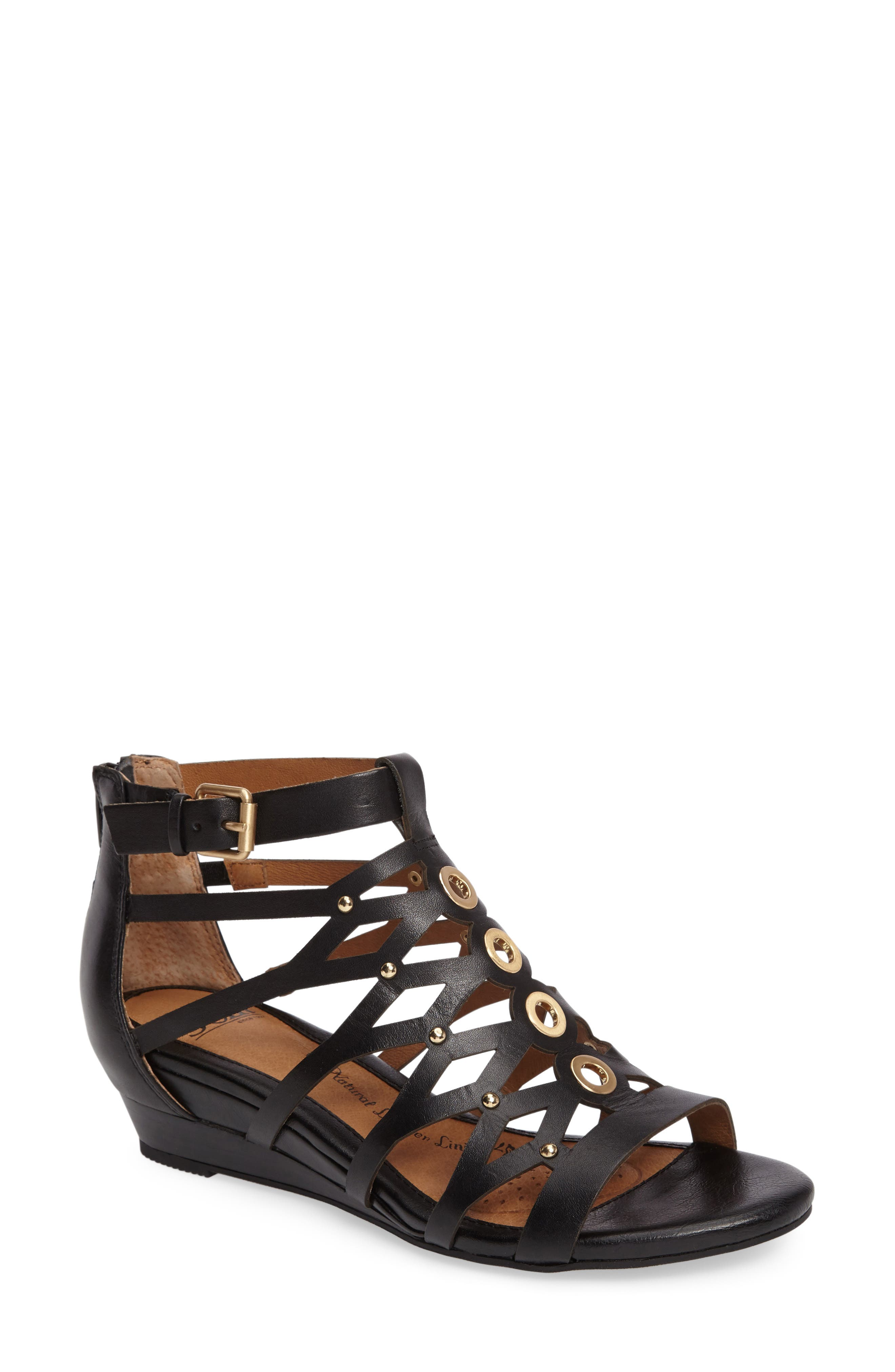 Rosalyn Wedge Sandal,                             Main thumbnail 1, color,                             001