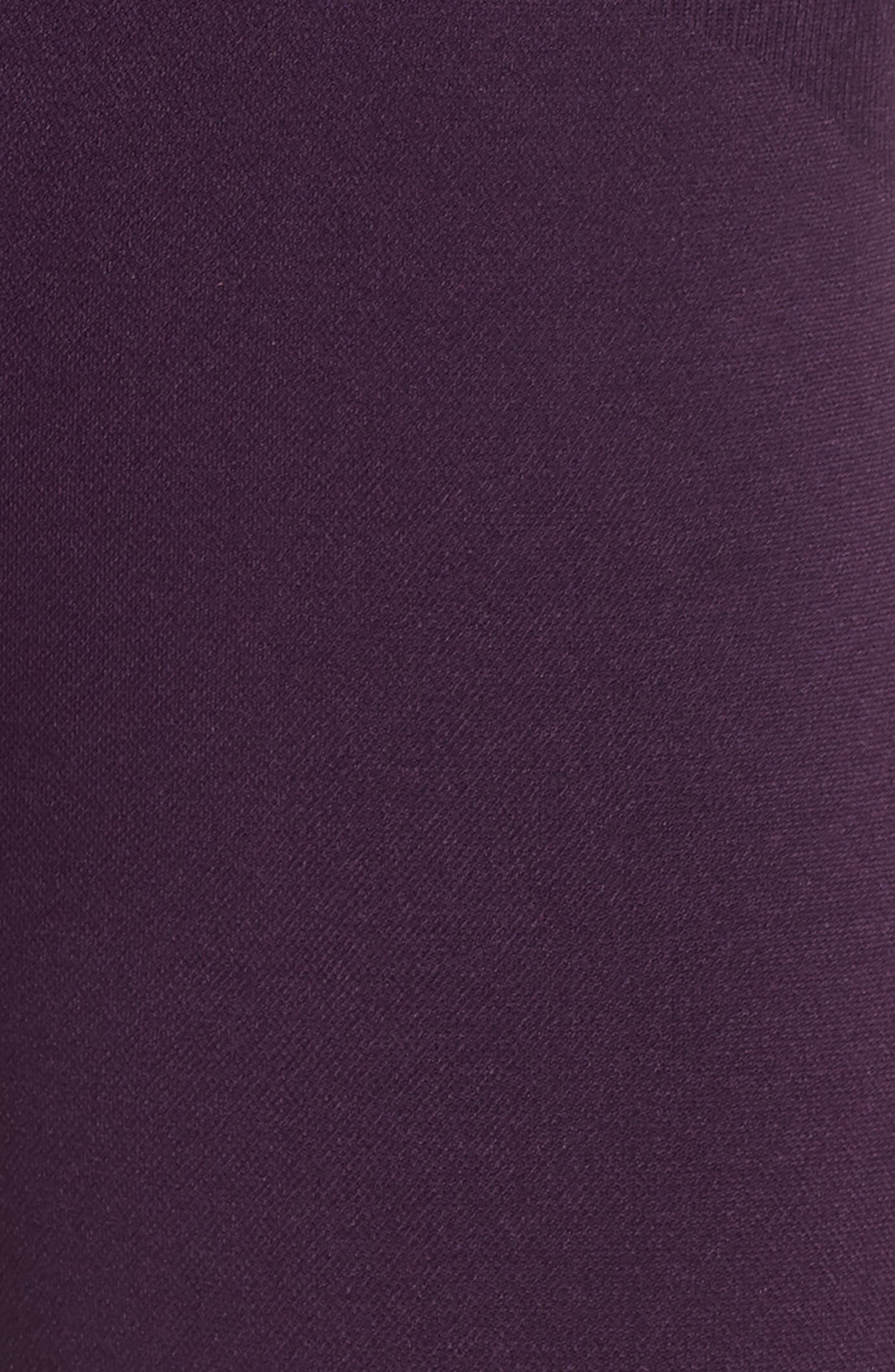 Millie Perforated Crop Leggings,                             Alternate thumbnail 5, color,                             PURPLE PENNANT