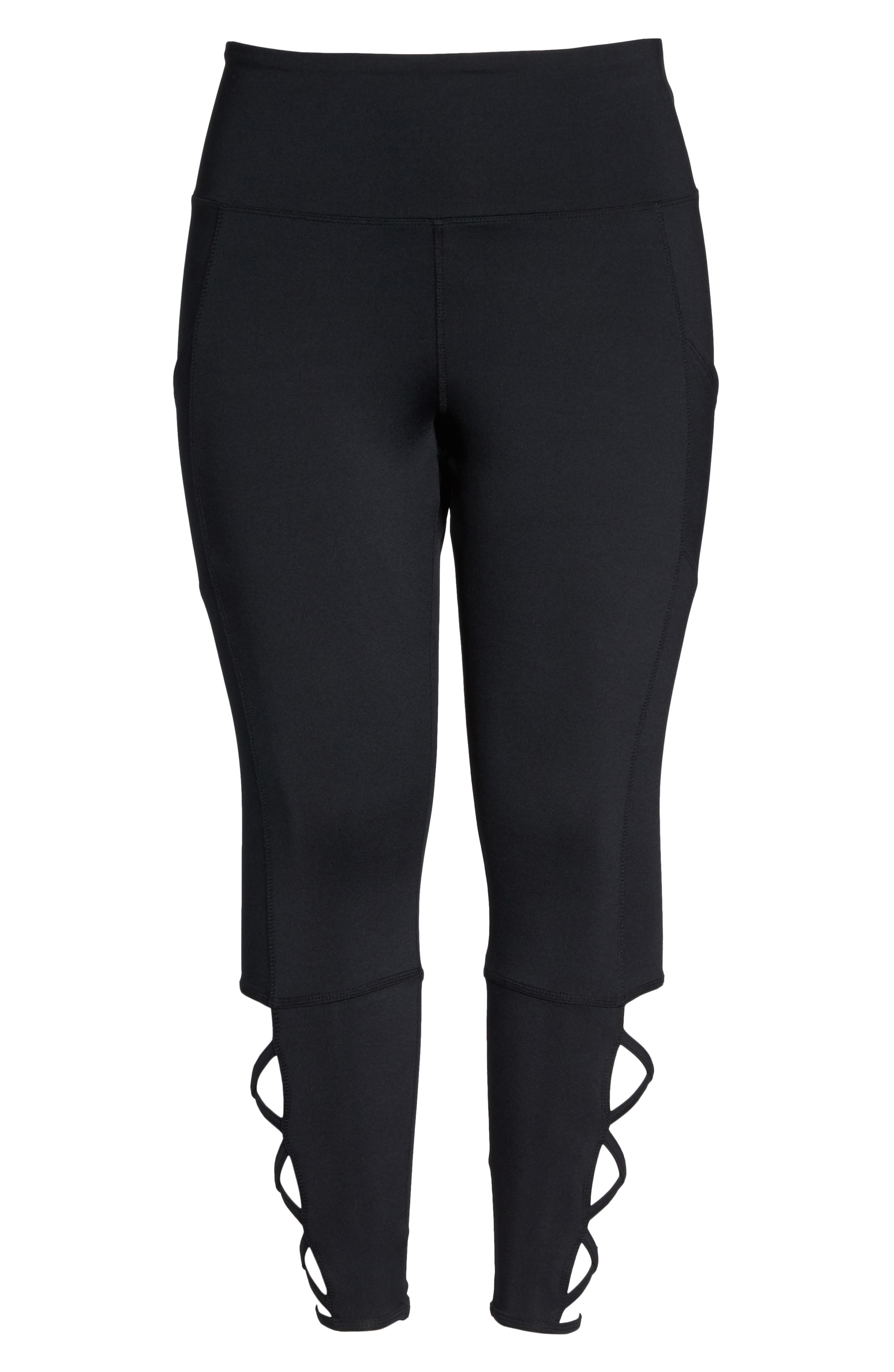 Lux Ankle Leggings,                             Alternate thumbnail 6, color,                             001