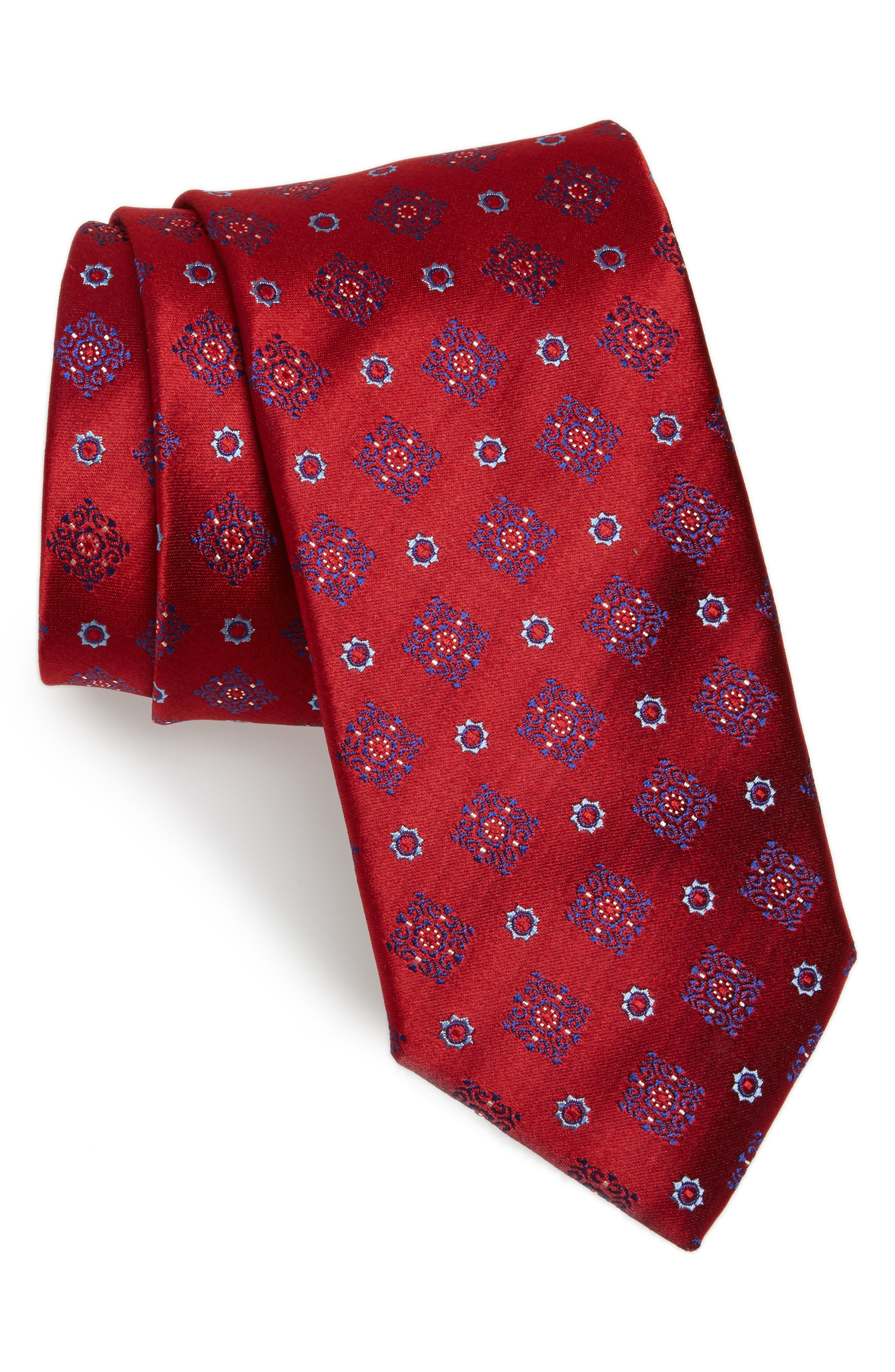 Medallion Silk Tie,                             Main thumbnail 3, color,