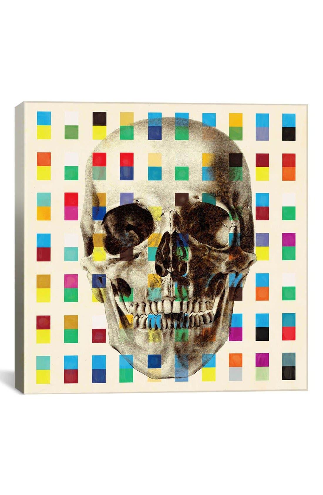 'White Skull Cubes - Fabrizio' Giclée Print Canvas Art,                             Main thumbnail 1, color,
