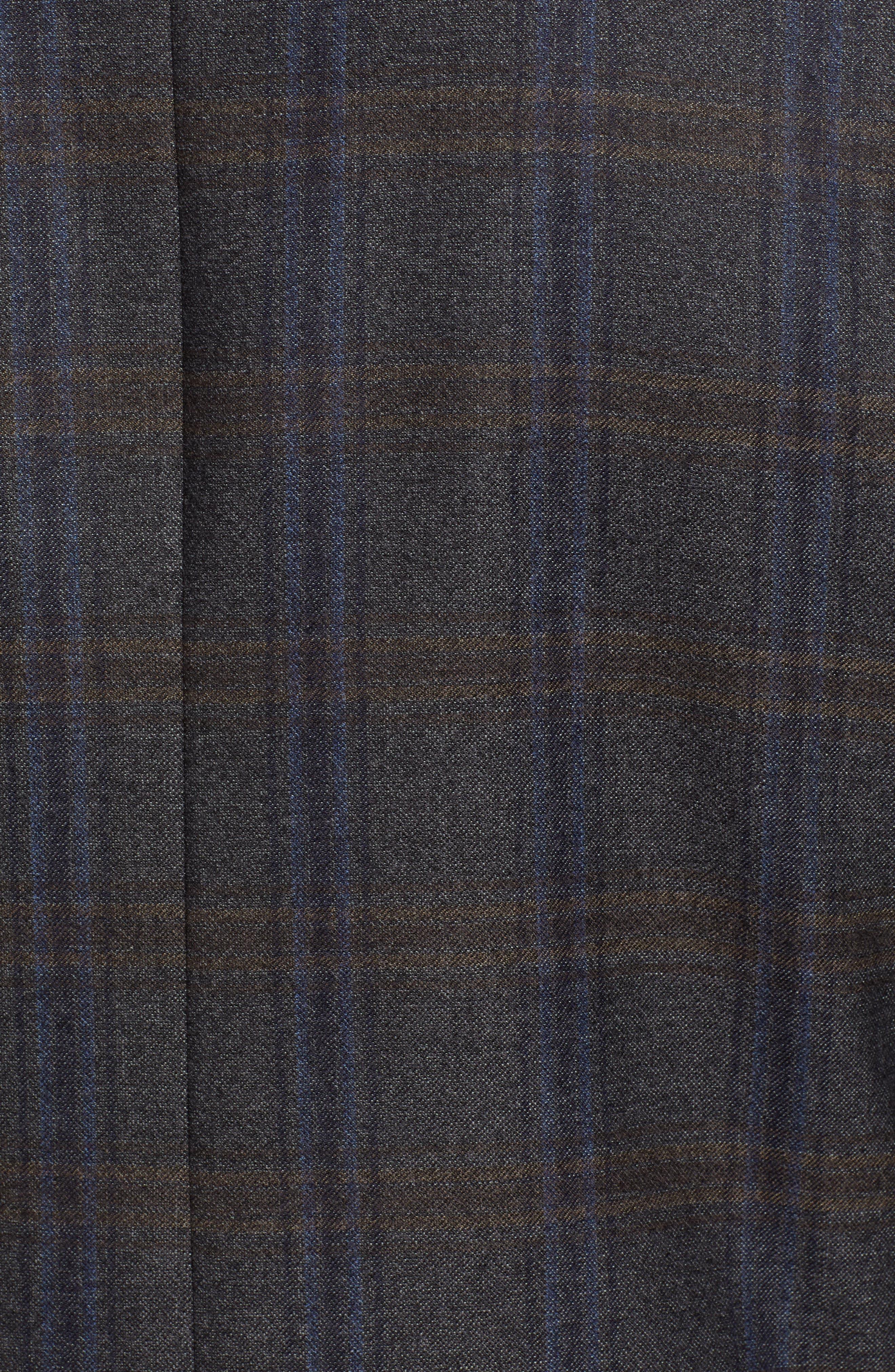 NORDSTROM MEN'S SHOP,                             Trim Fit Plaid Wool Sport Coat,                             Alternate thumbnail 5, color,                             010