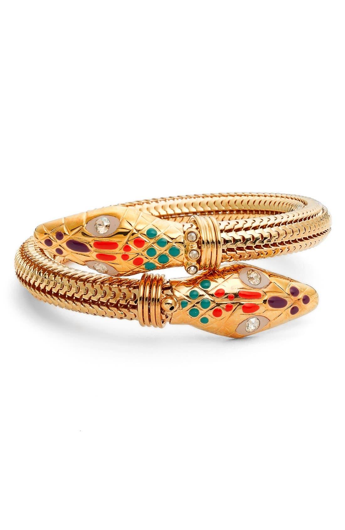 'Cobra' Enameled Bracelet,                             Main thumbnail 2, color,