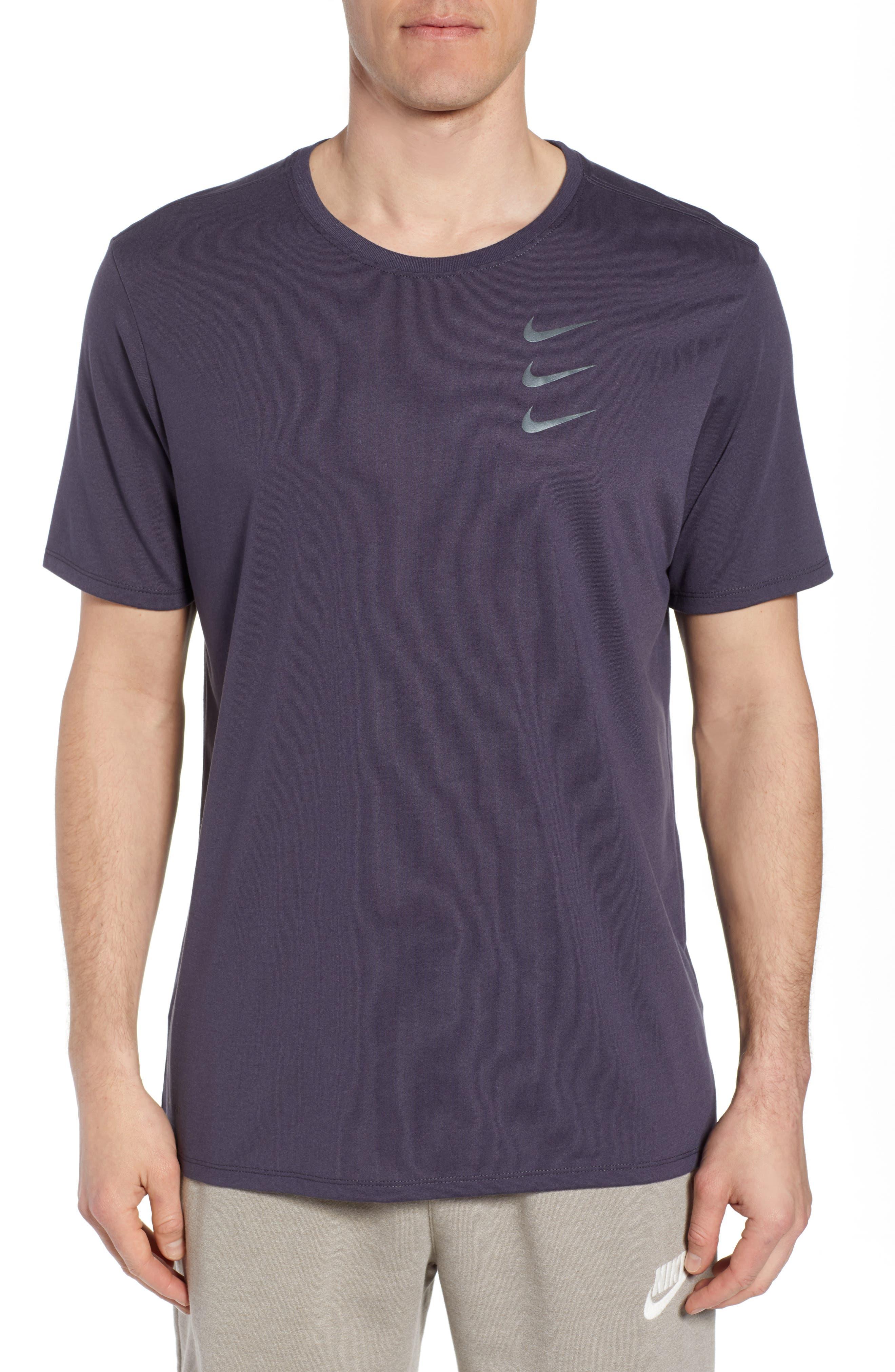 Dry Running Division T-Shirt,                             Main thumbnail 1, color,                             GRIDIRON/ GUNSMOKE