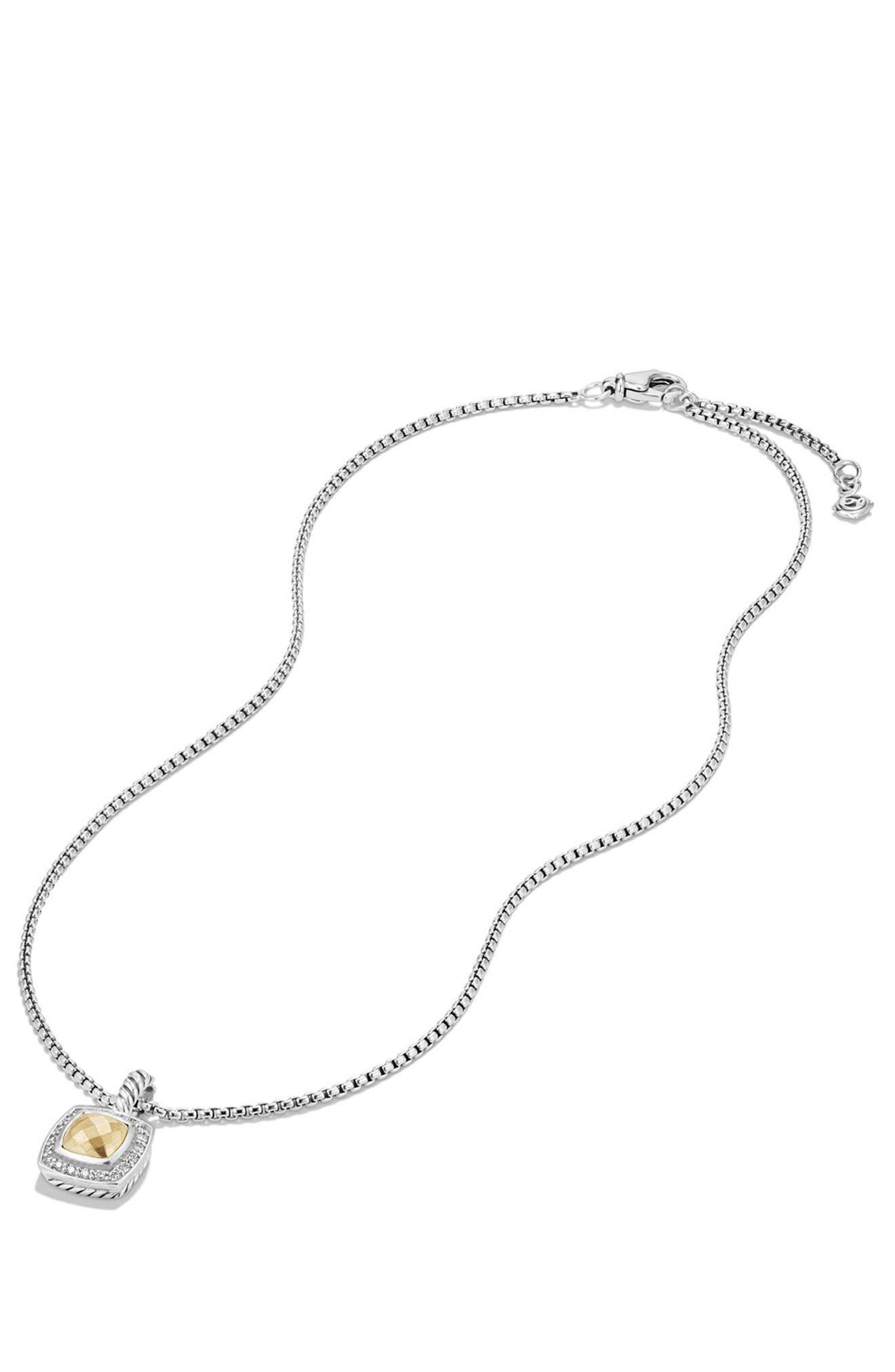 Petite Albion<sup>®</sup> Pendant Necklace with Diamonds,                             Alternate thumbnail 3, color,                             SILVER/ GOLD