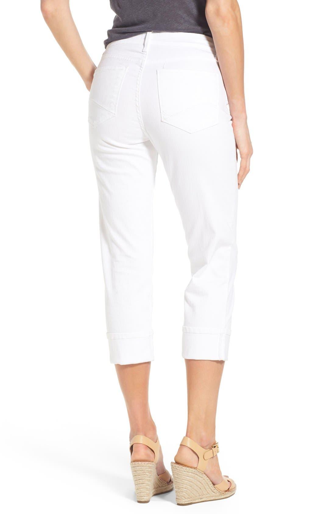 'Dayla' Colored Wide Cuff Capri Jeans,                             Alternate thumbnail 31, color,
