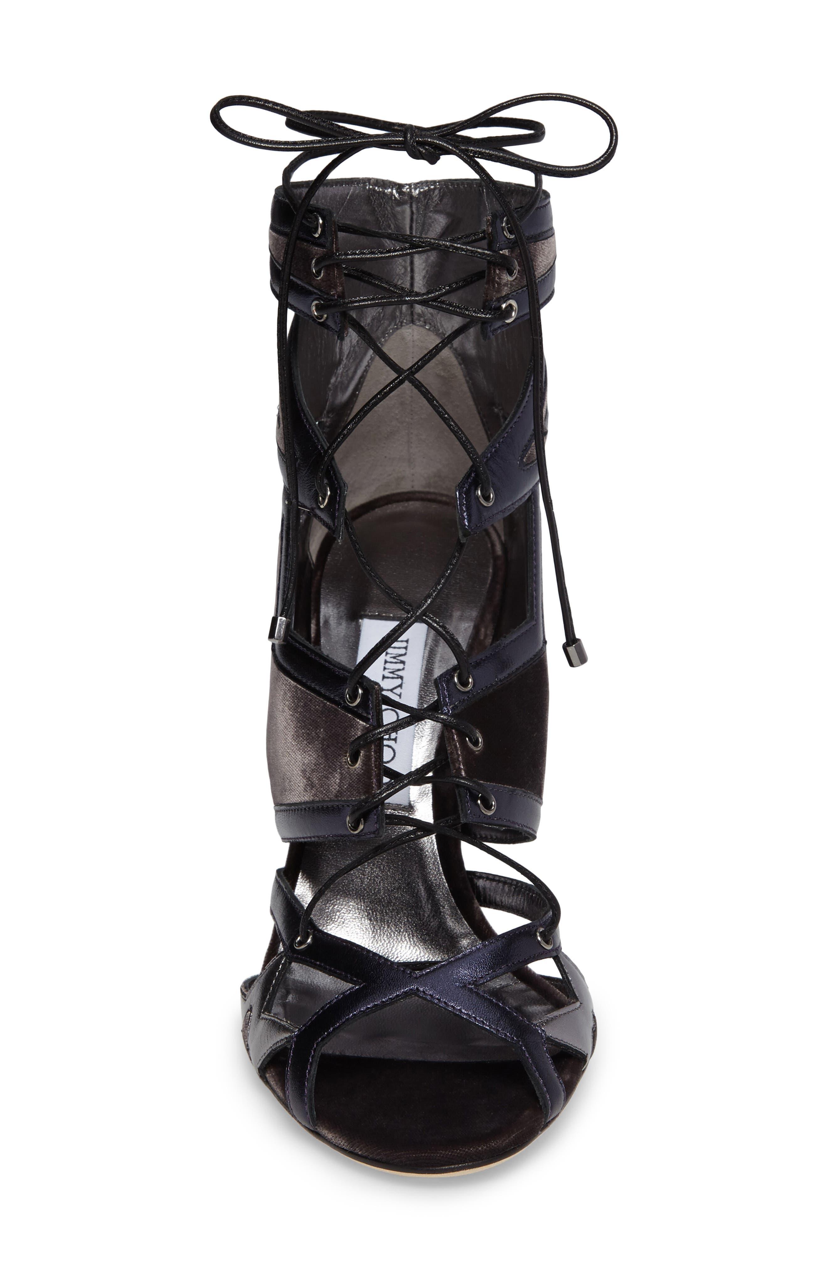 Denney Lace-Up Sandal,                             Alternate thumbnail 4, color,                             020
