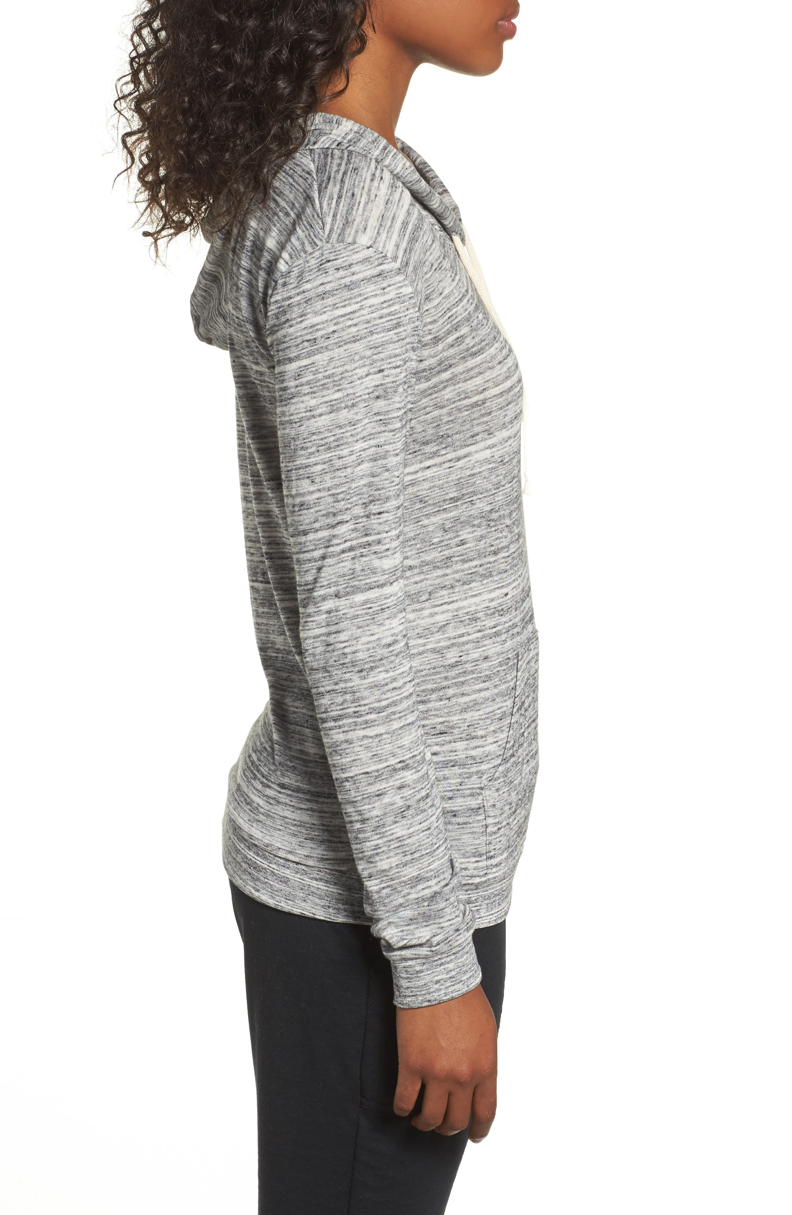 Mottled Pullover Hoodie,                             Alternate thumbnail 3, color,                             061