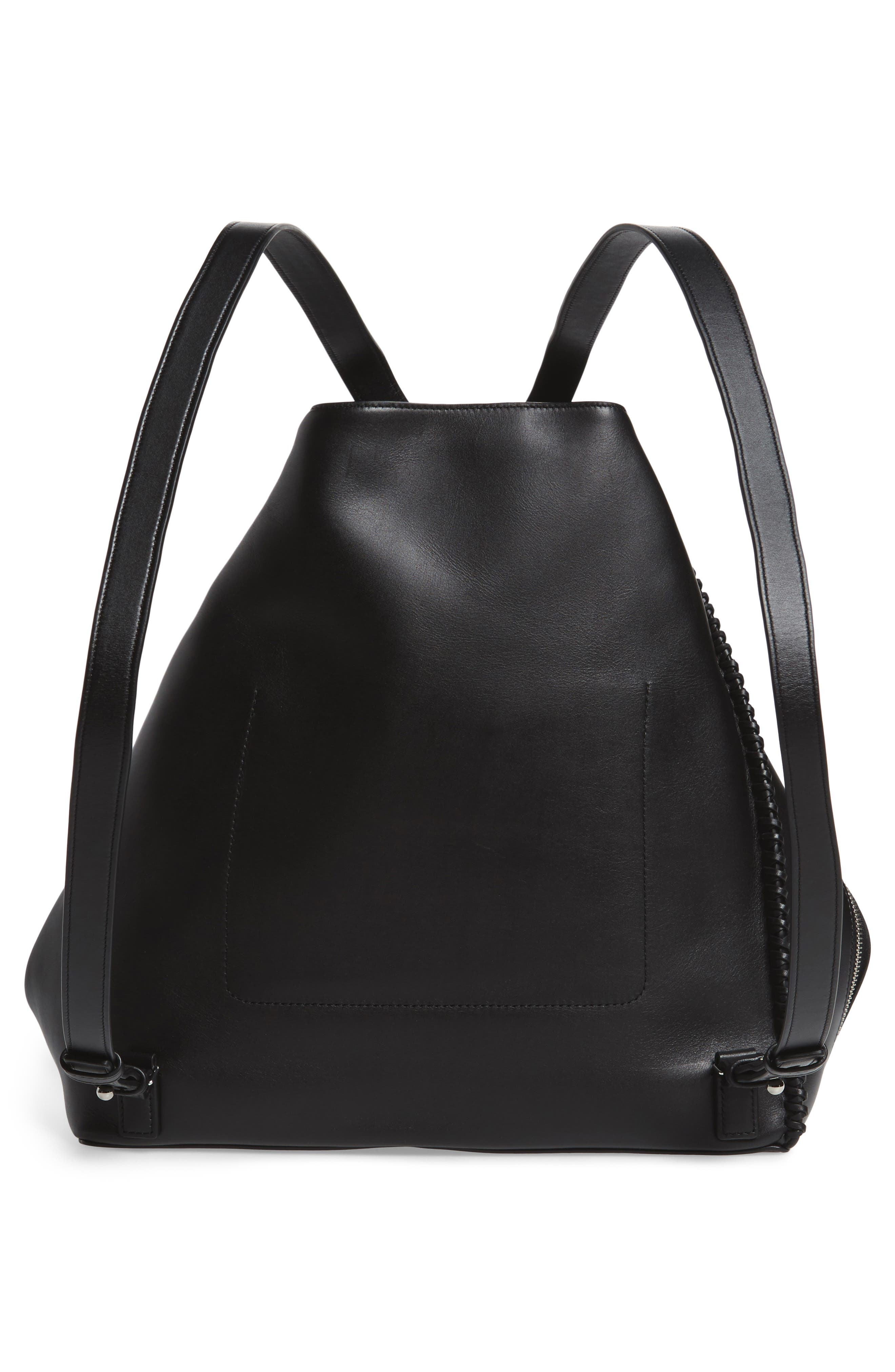 Pearl Convertible Leather Backpack,                             Alternate thumbnail 3, color,                             001