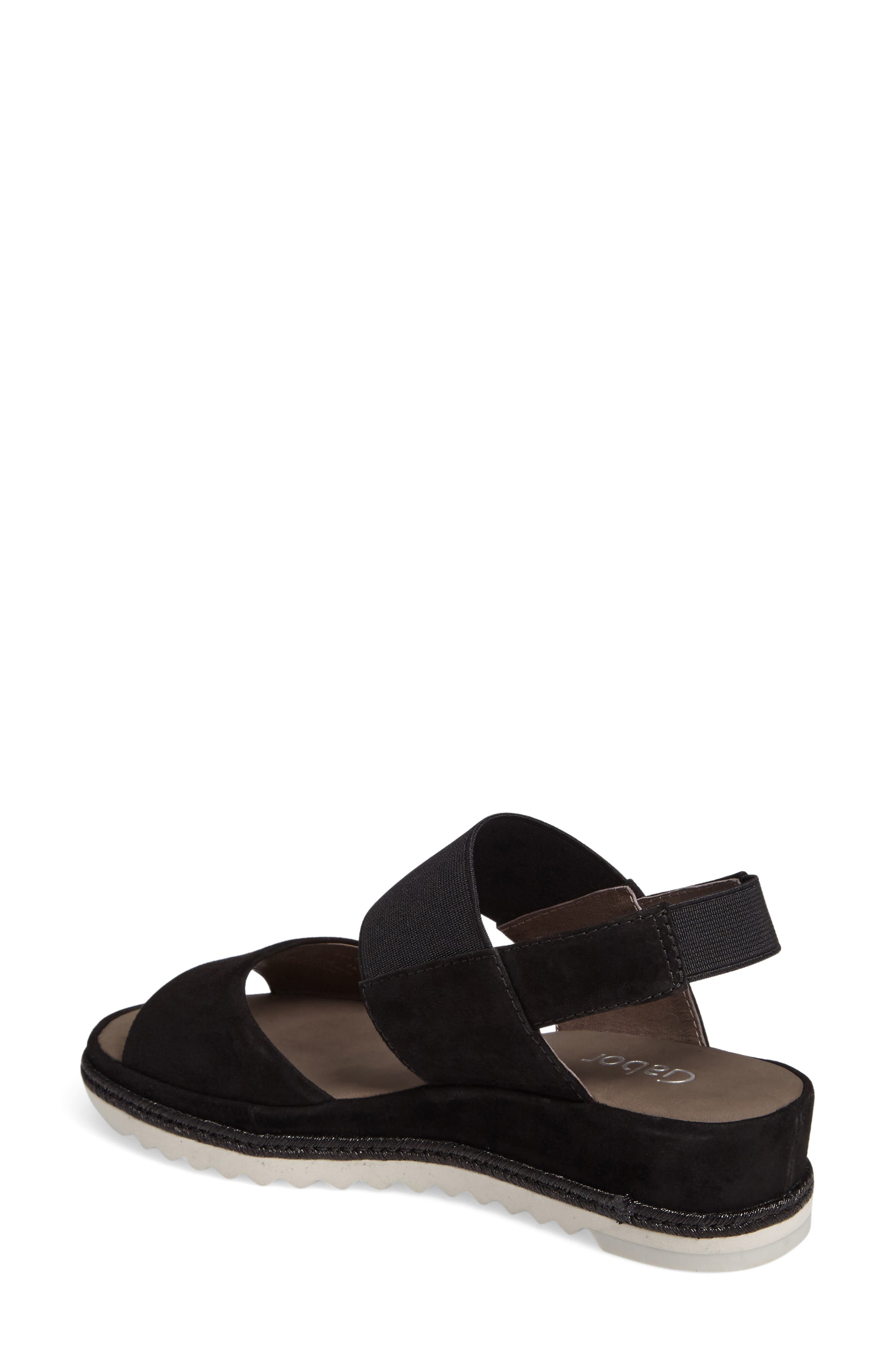 Low Wedge Sandal,                             Alternate thumbnail 2, color,                             001