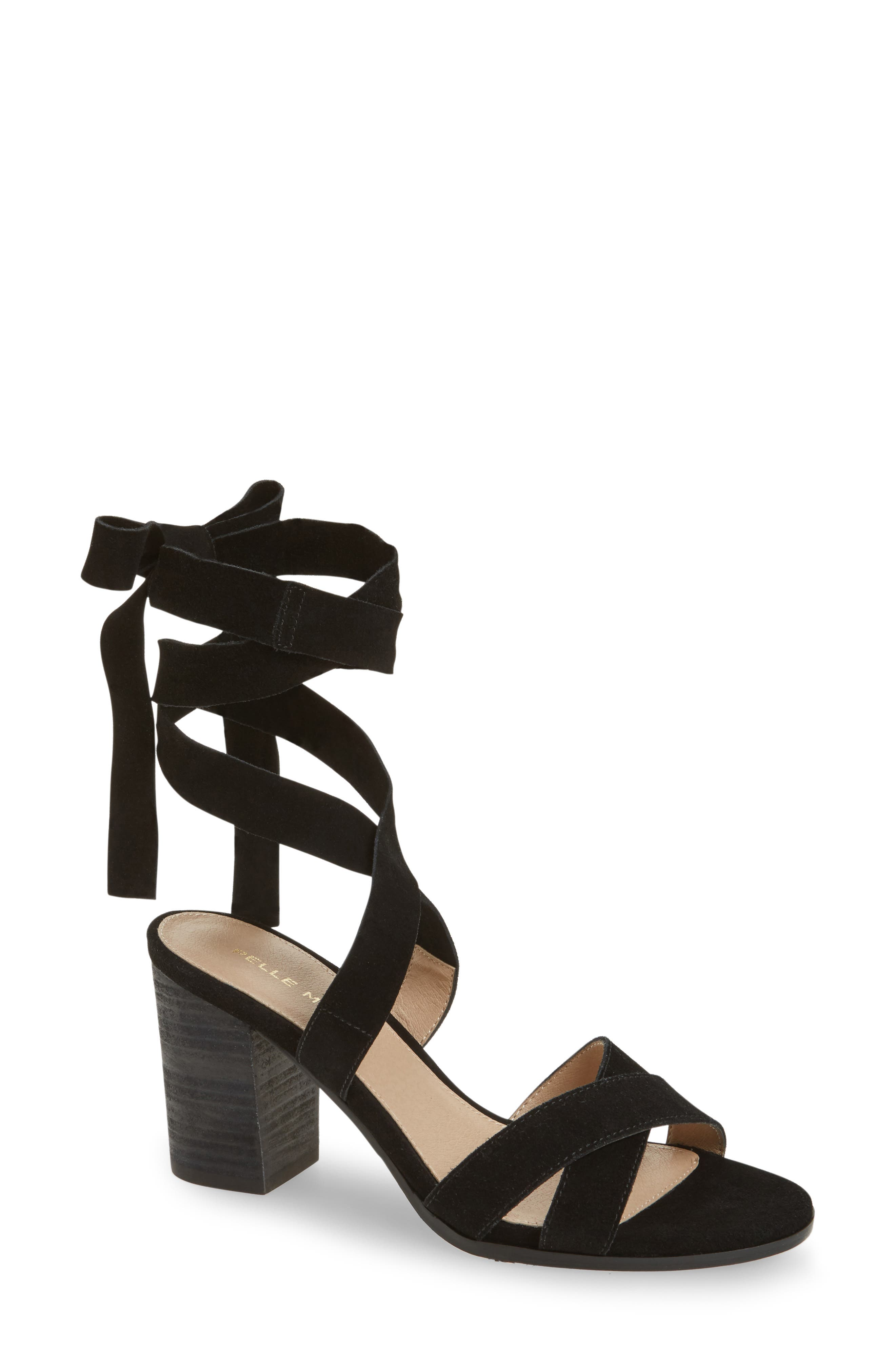 Bonjour Ankle Wrap Sandal,                         Main,                         color,