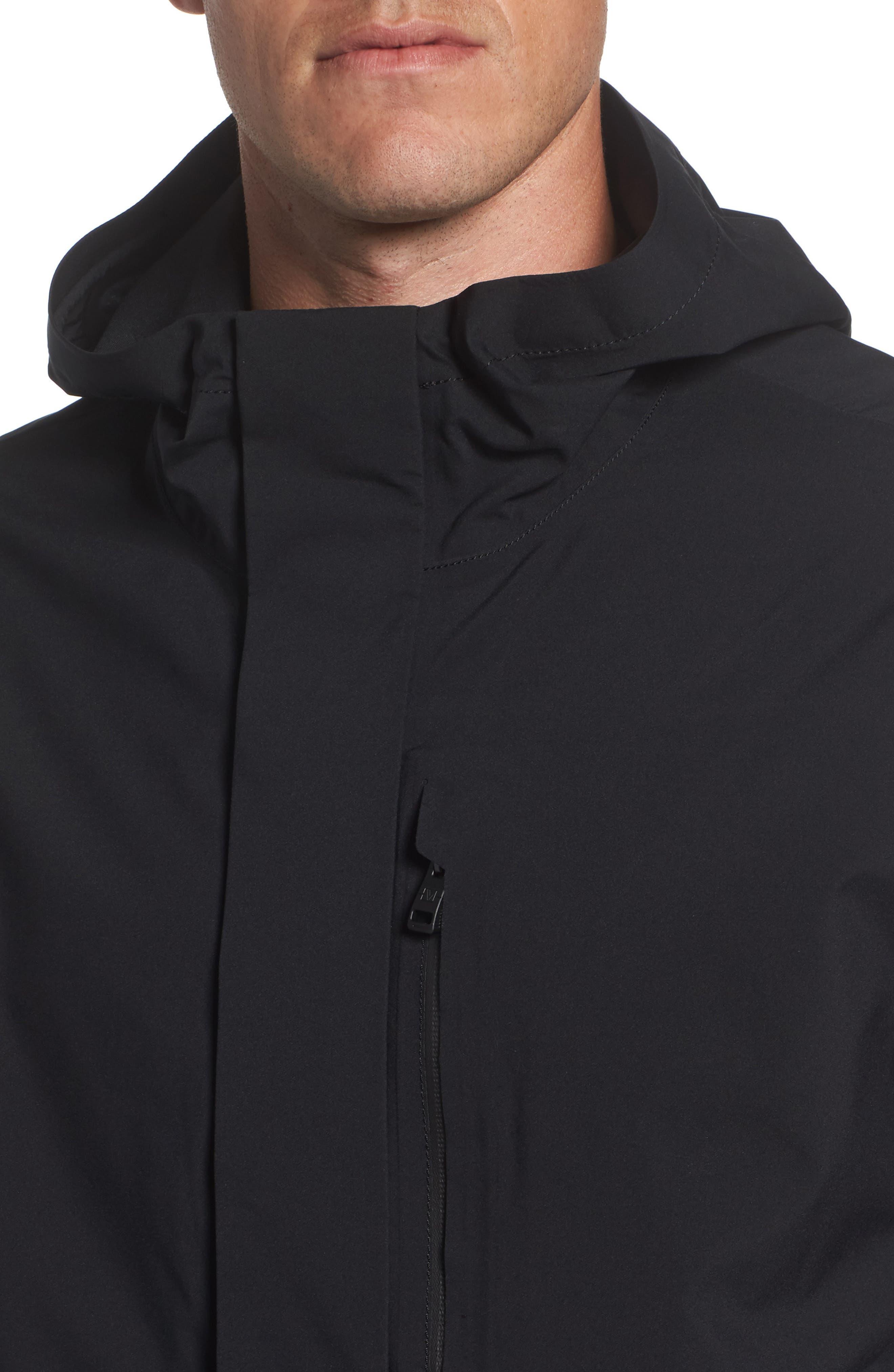 Marc New York Stratus Waterproof Hooded Rain Jacket,                             Alternate thumbnail 4, color,                             001