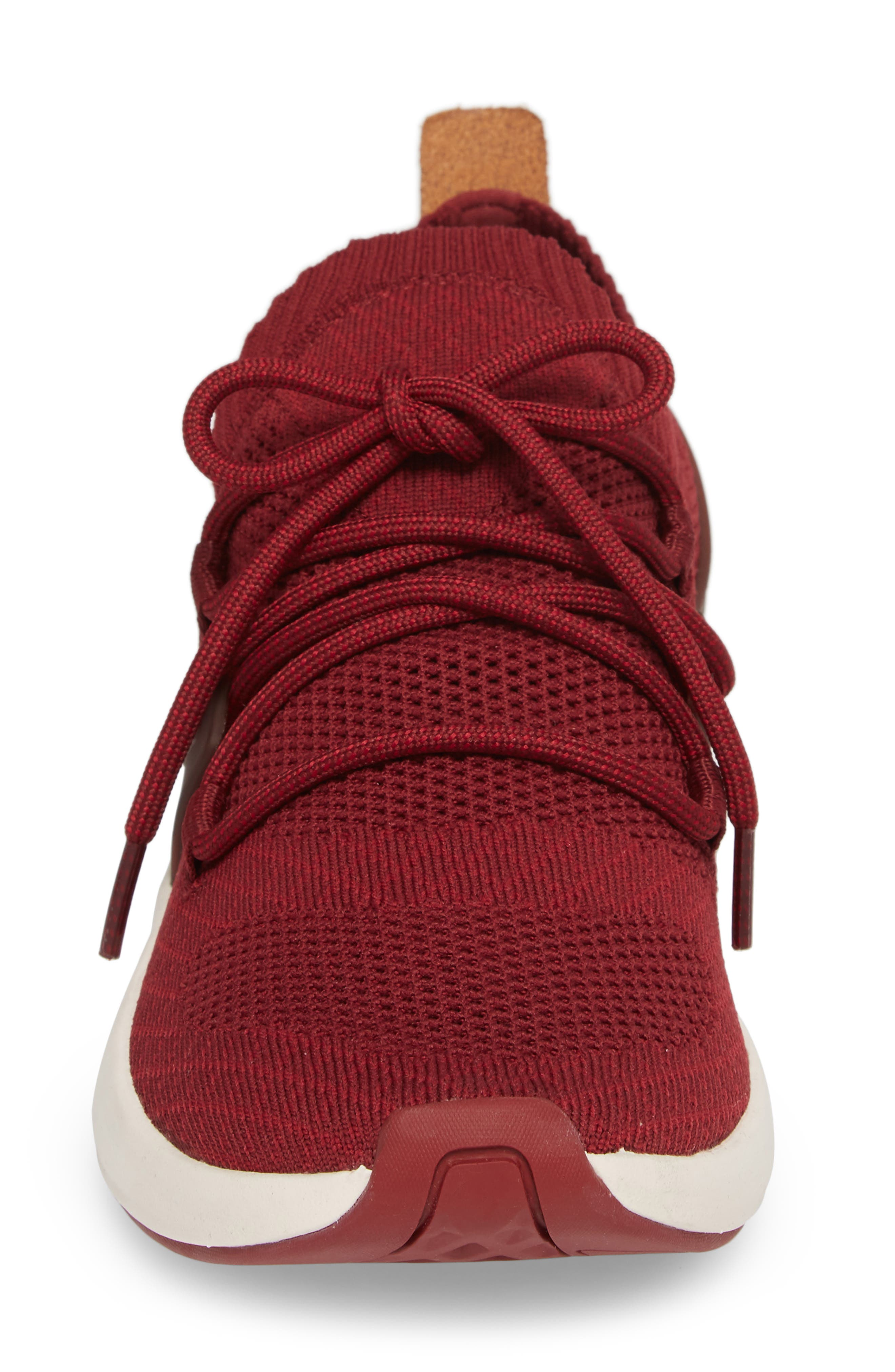 FlyRoam Sneaker,                             Alternate thumbnail 4, color,                             POMEGRANATE LEATHER