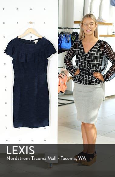 Ruffle Tweed Dress, sales video thumbnail