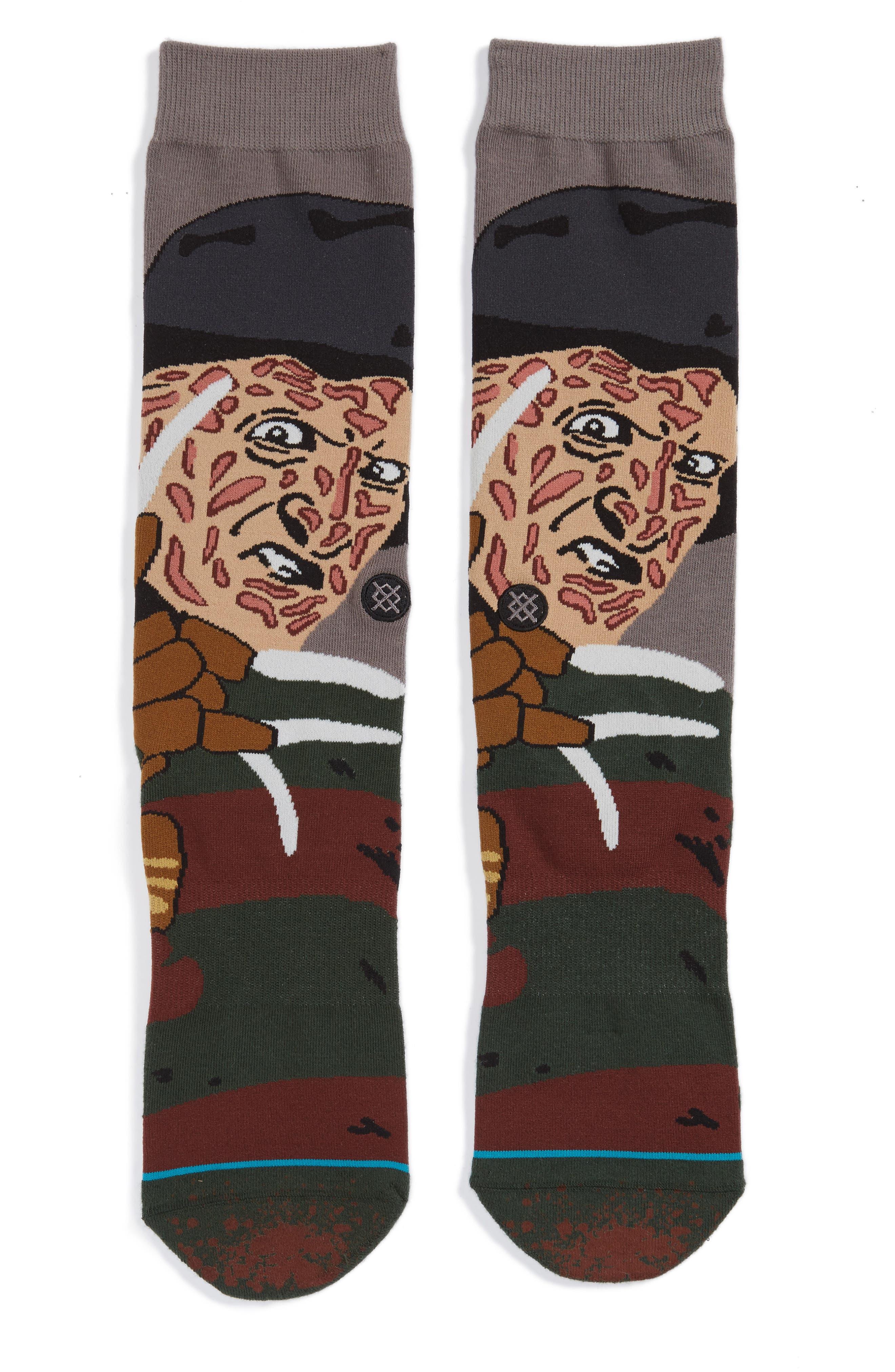 Freddy Krueger - Legends of Horror Socks,                             Main thumbnail 1, color,