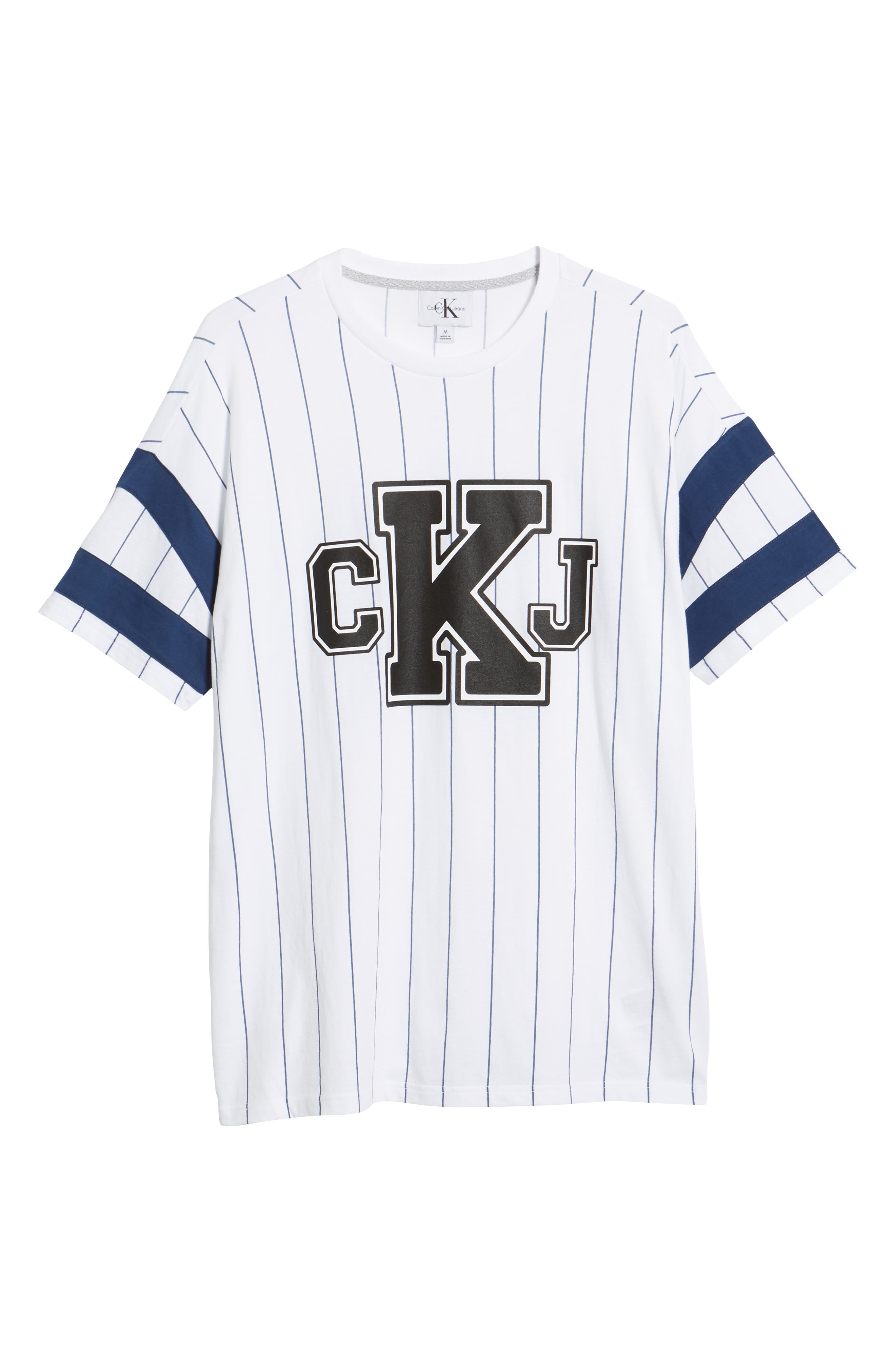 Logo Graphic Baseball T-Shirt,                             Alternate thumbnail 6, color,                             STANDARD WHITE