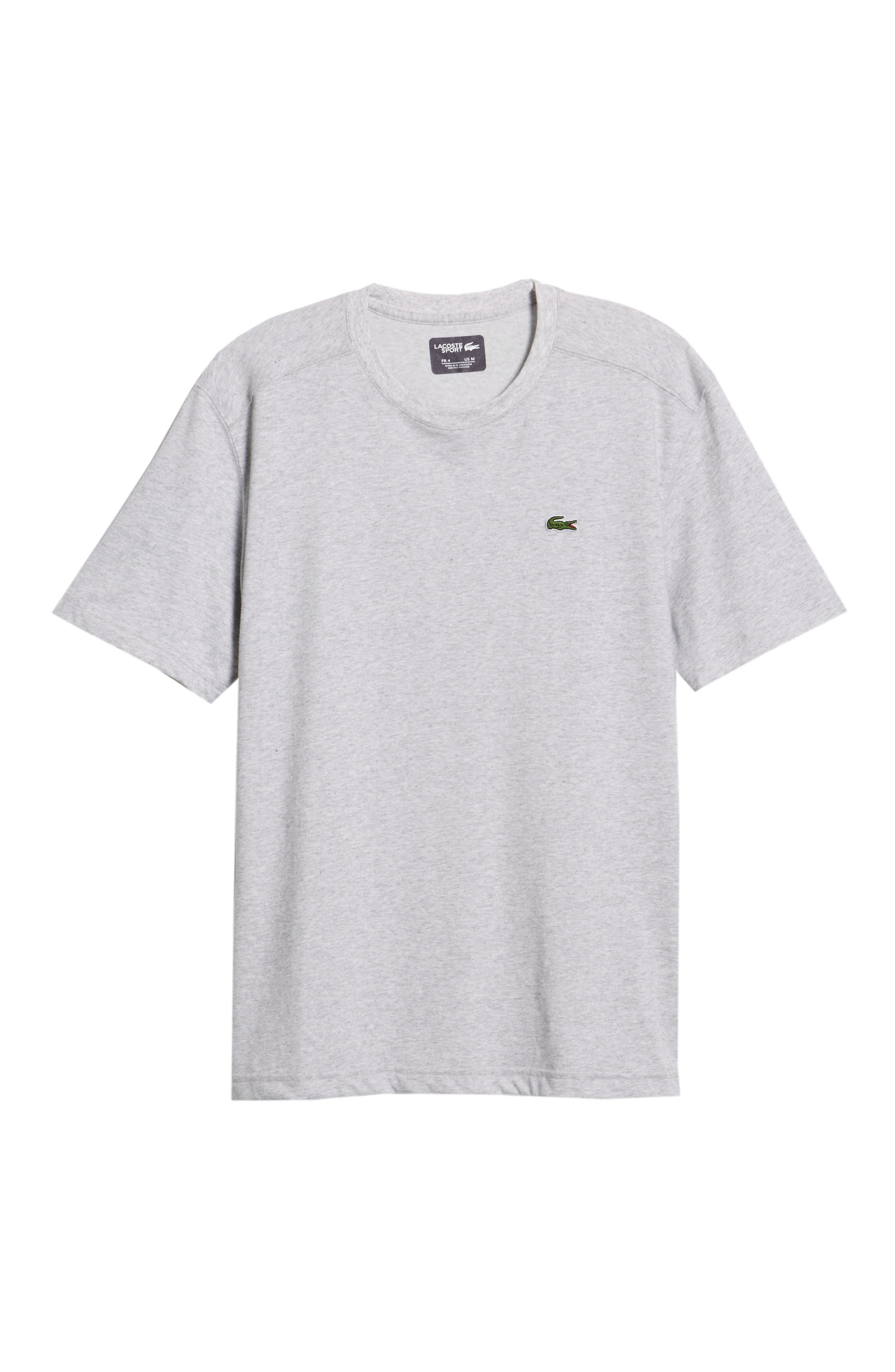 'Sport' Cotton Jersey T-Shirt,                             Alternate thumbnail 6, color,                             SILVER CHINE