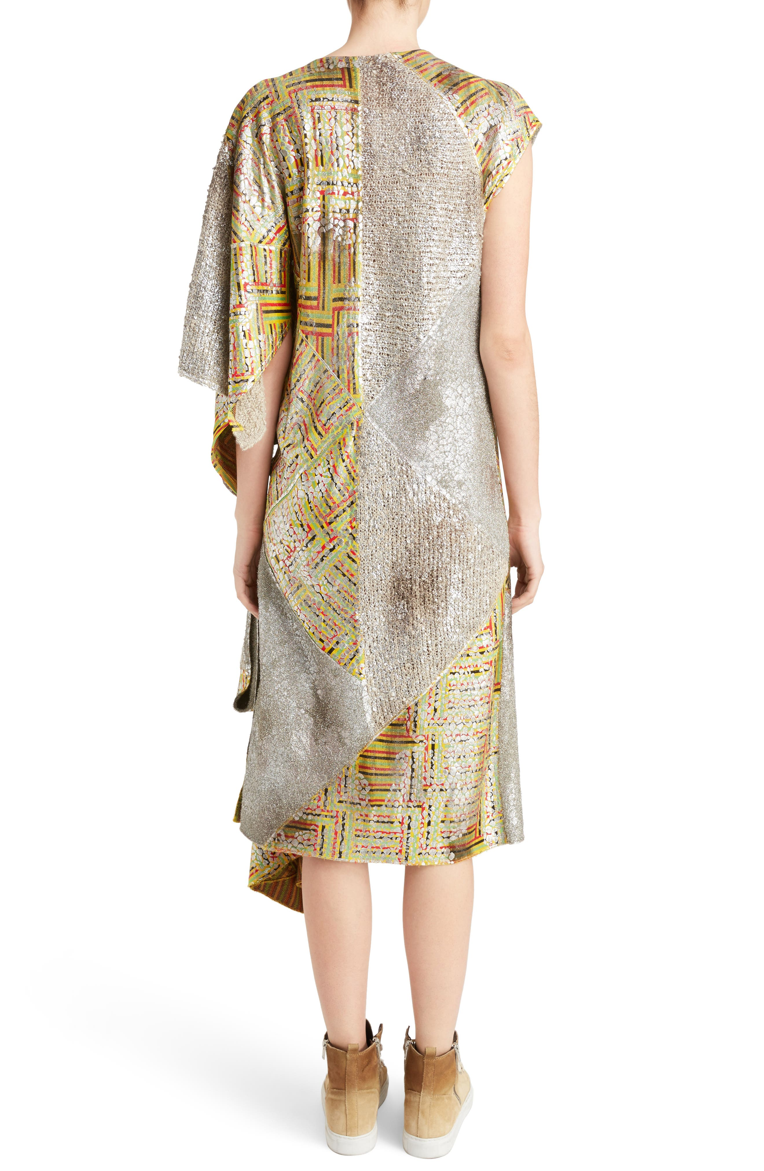 J.W.ANDERSON Geo Patterned Asymmetrical Draped Dress,                             Alternate thumbnail 2, color,                             040