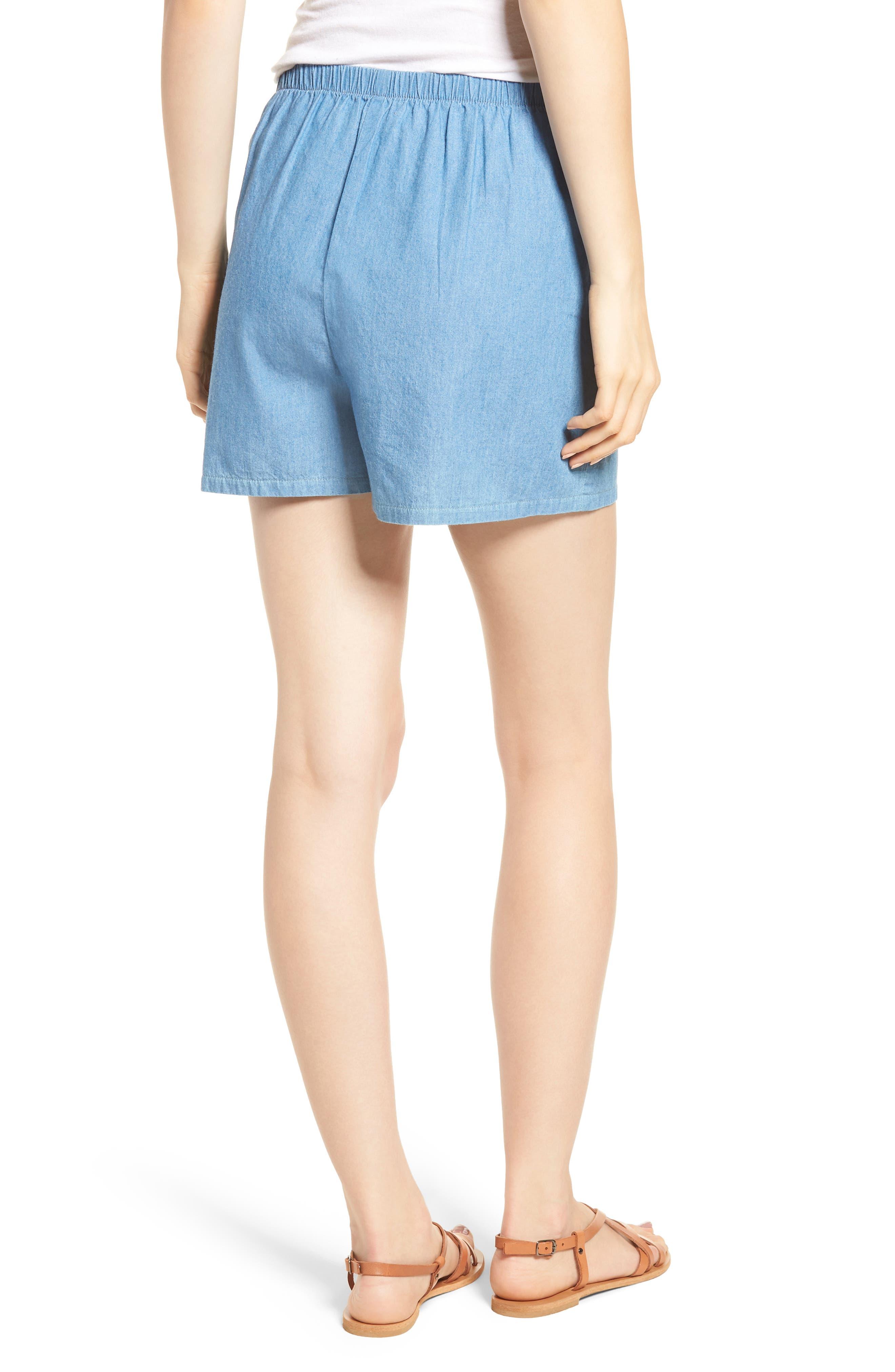 Tie Front Shorts,                             Alternate thumbnail 2, color,                             400