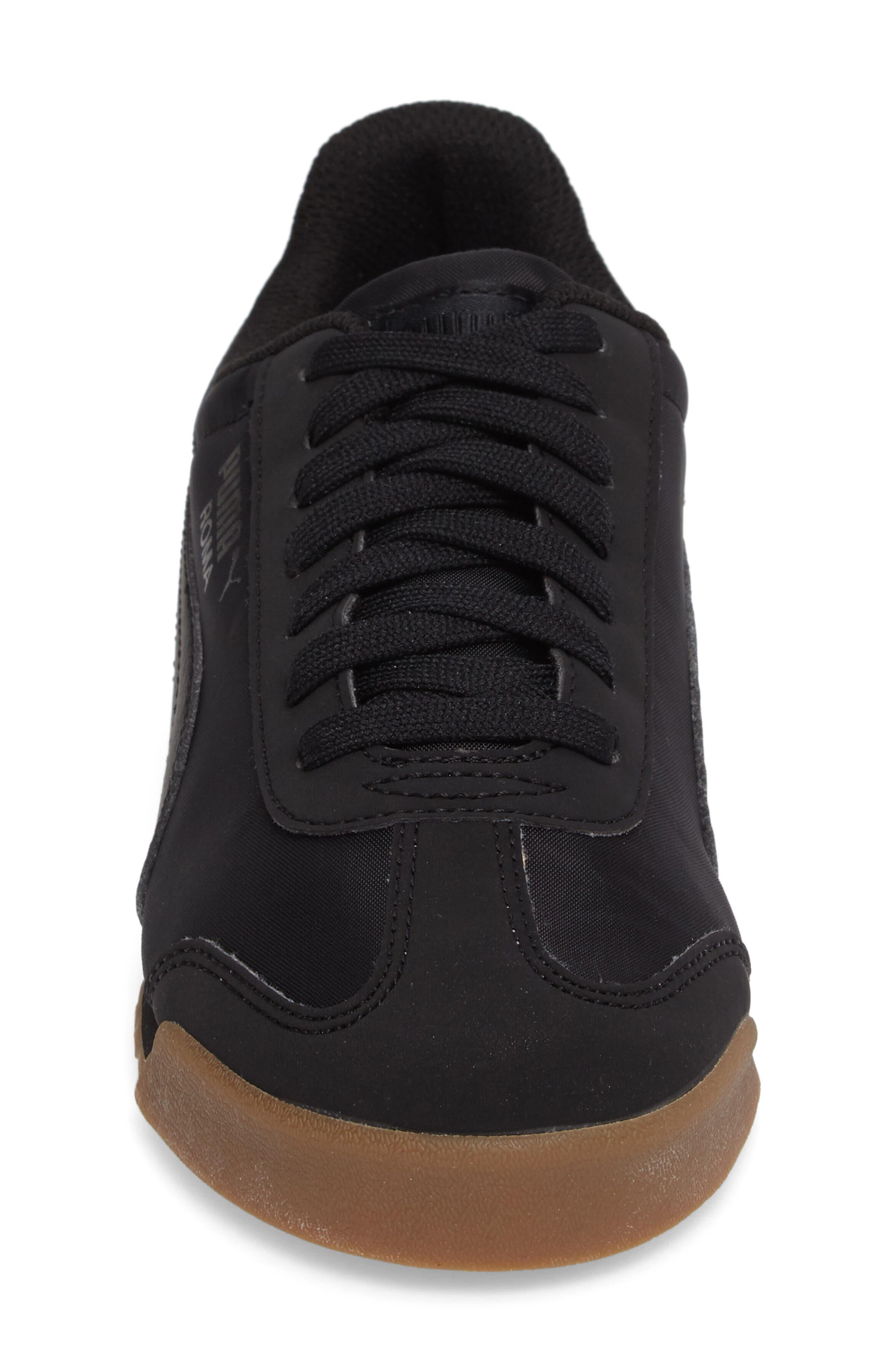 PUMA,                             Roma Basic Summer Sneaker,                             Alternate thumbnail 4, color,                             001
