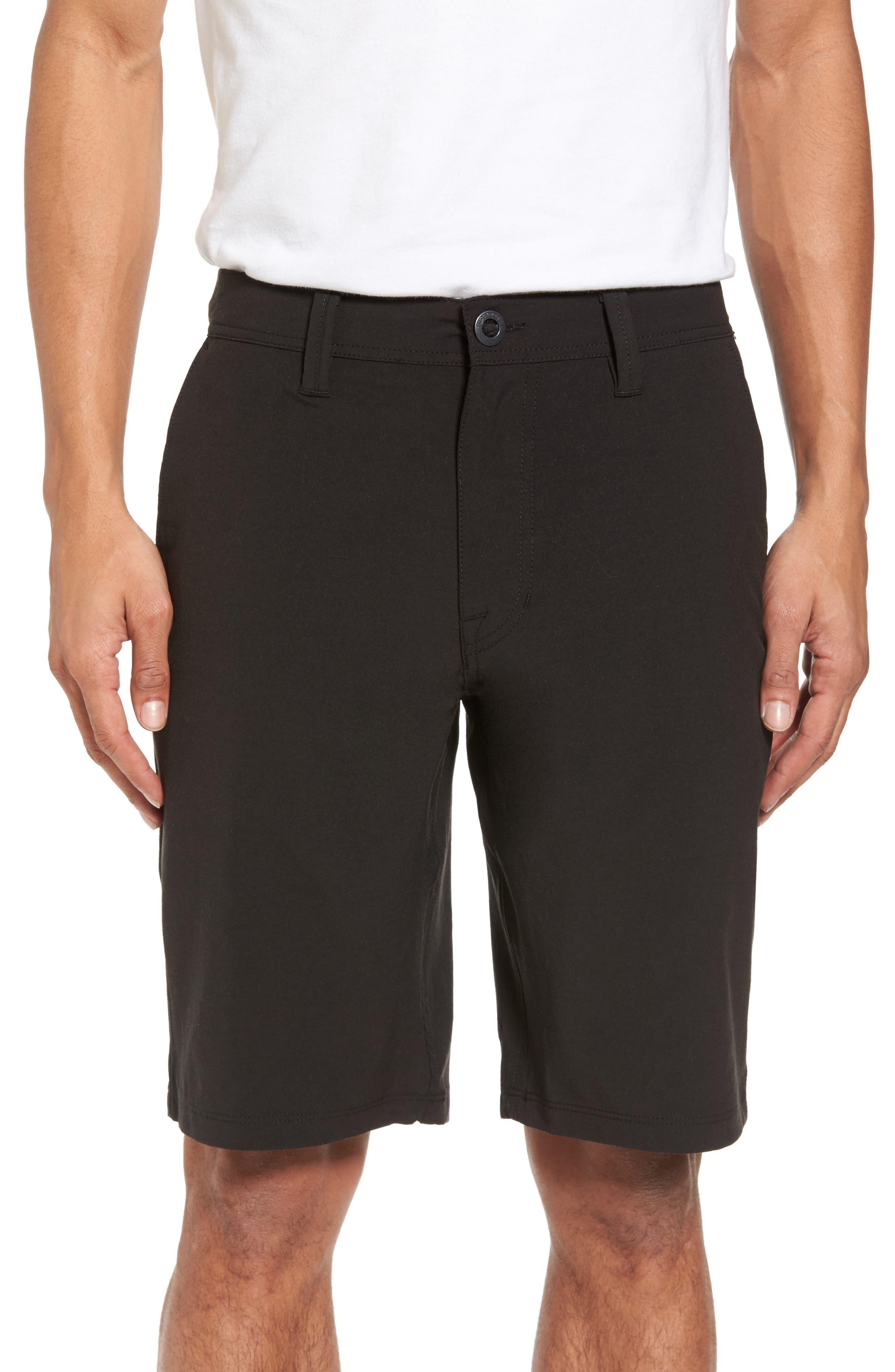 Hybrid Shorts, Main, color, BLACK