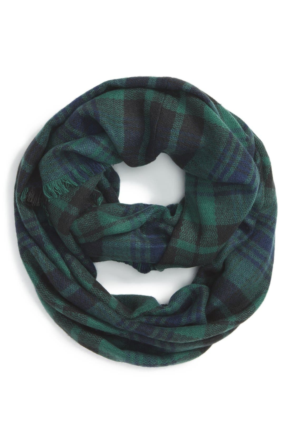 'Heritage' Plaid Infinity Scarf,                             Main thumbnail 3, color,