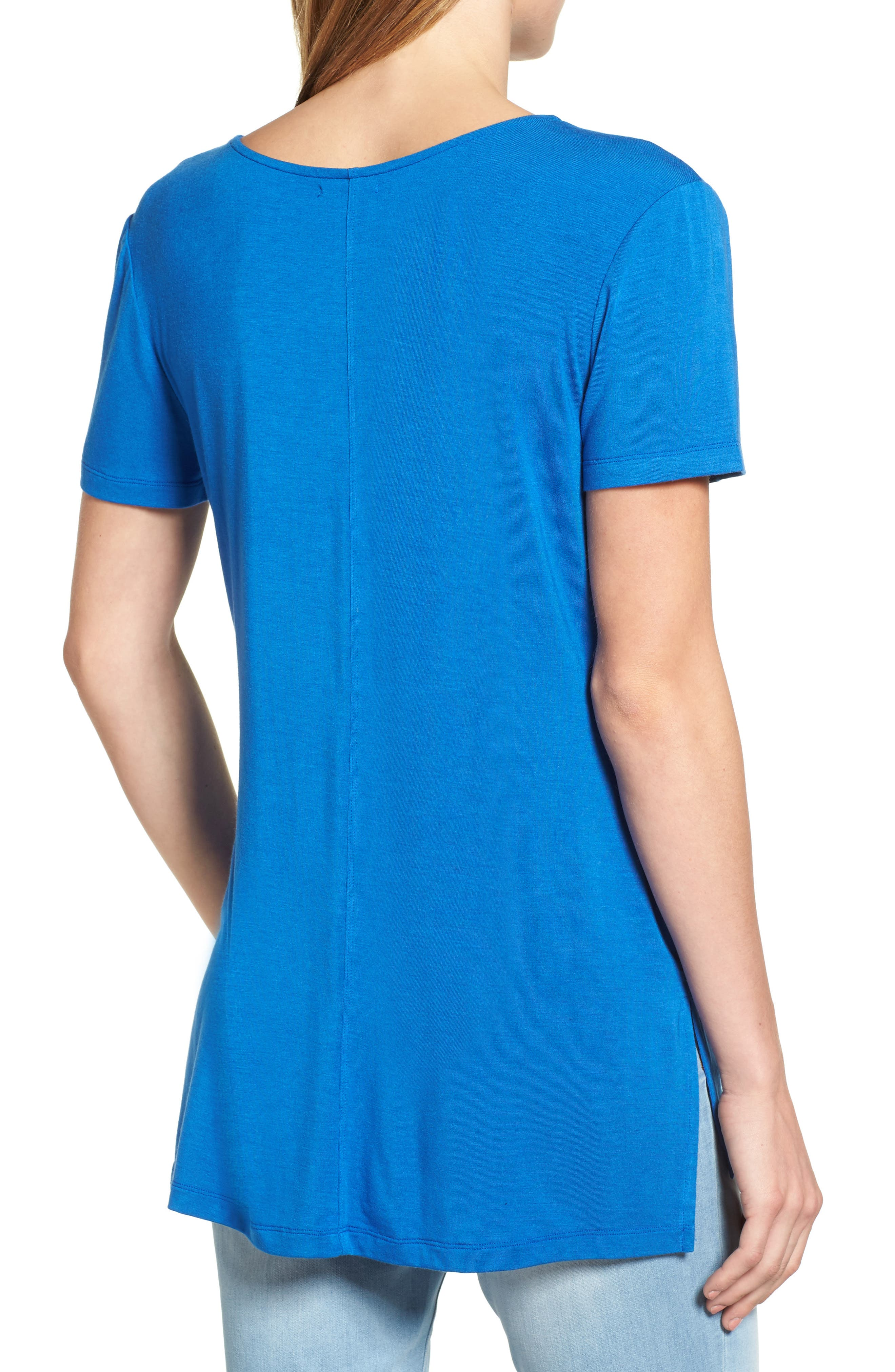 V-Neck Tunic Tee,                             Alternate thumbnail 22, color,