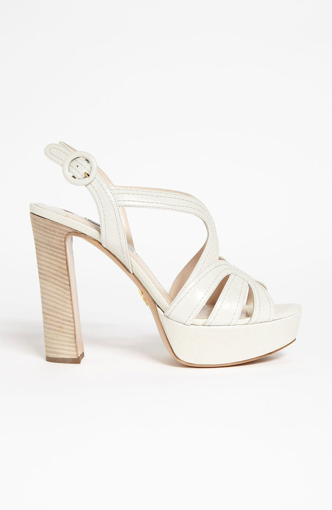 Blonde Heel Sandal,                             Alternate thumbnail 4, color,                             100