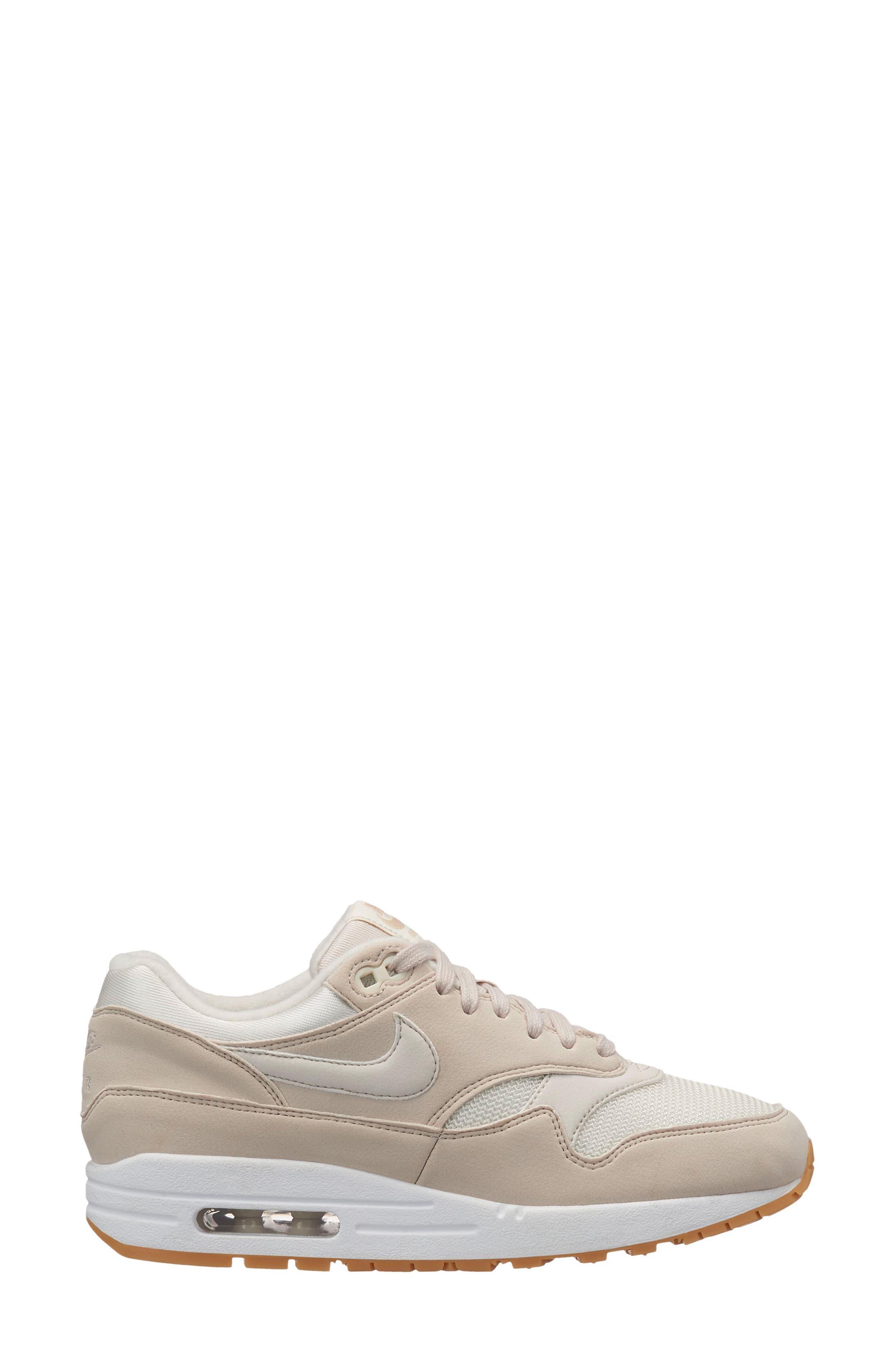 Air Max 1 Sneaker,                             Alternate thumbnail 6, color,                             DESERT SAND