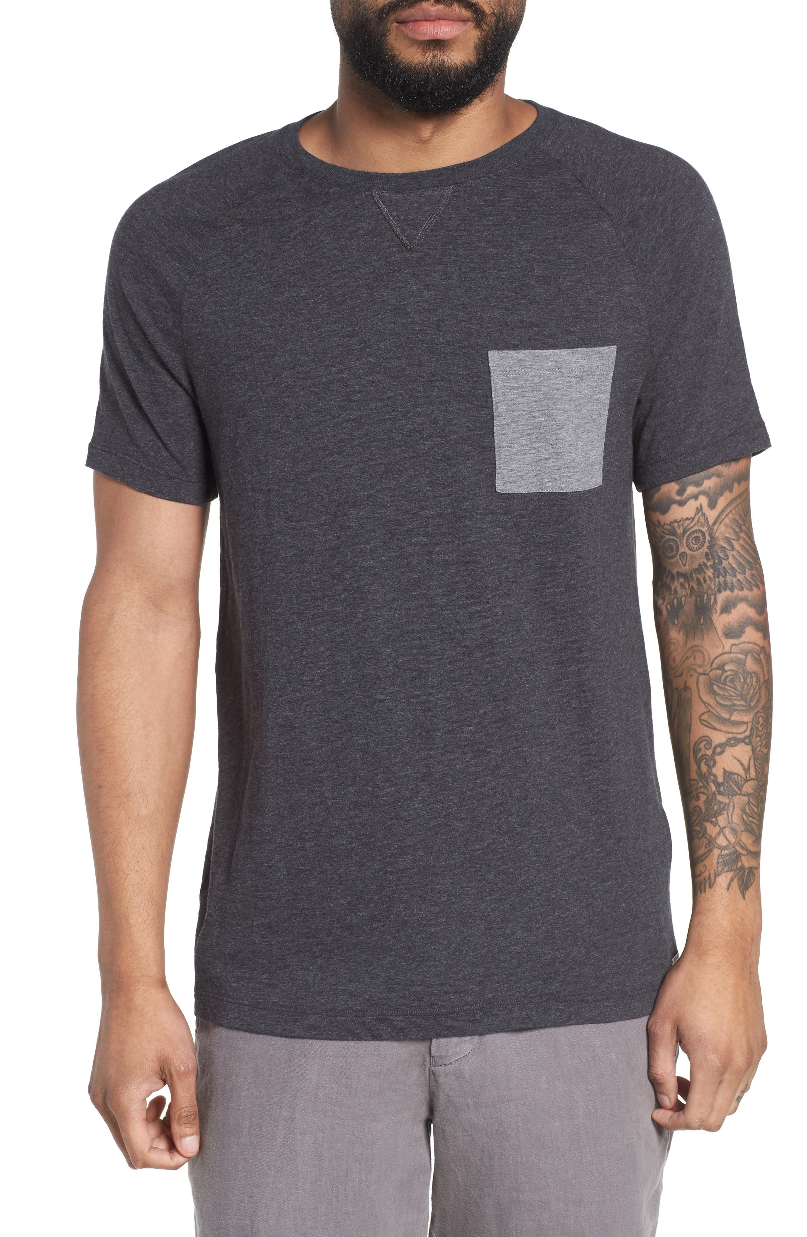 Tessler Slim Fit Pocket T-Shirt,                         Main,                         color, 001