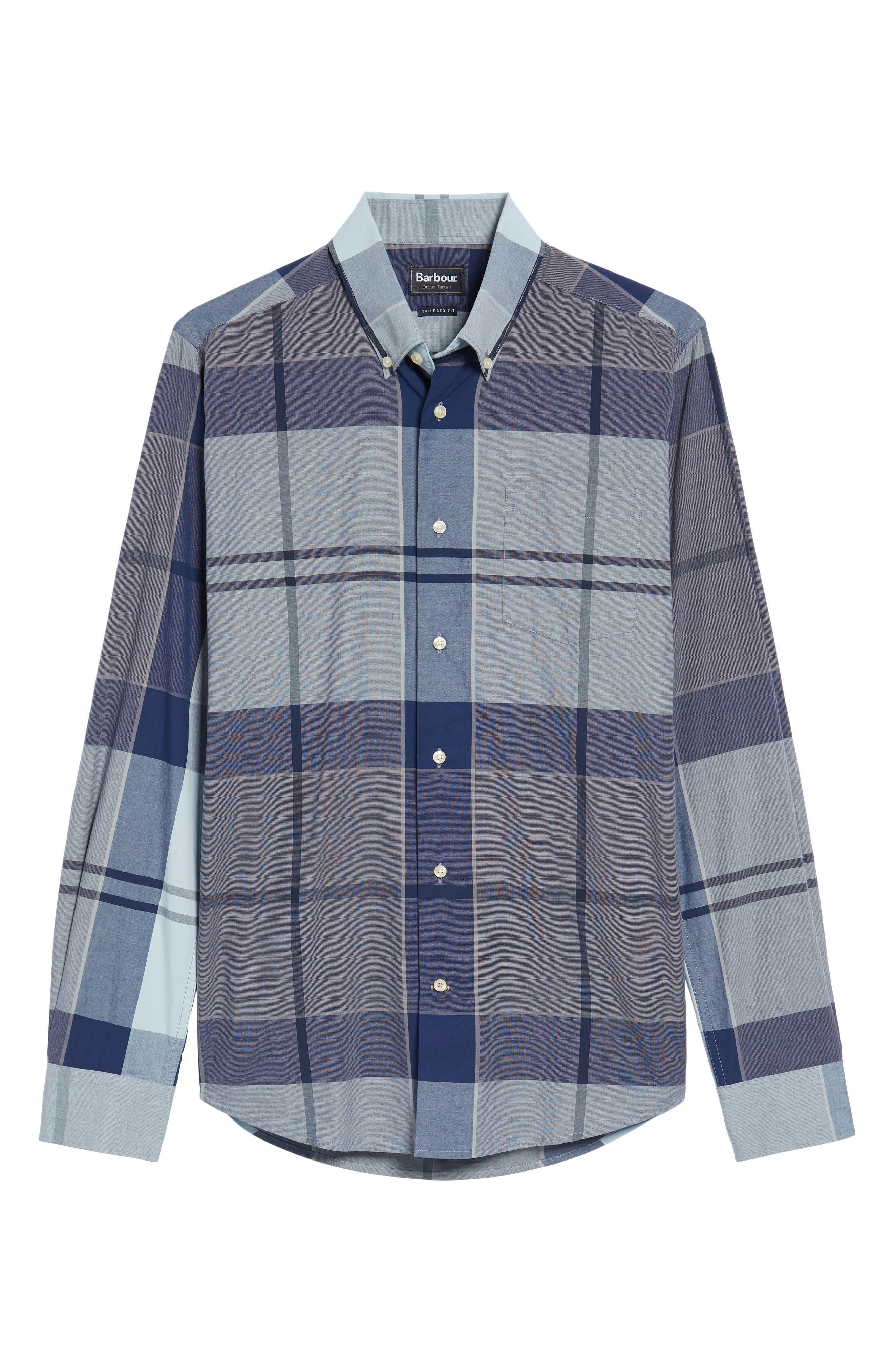 Arndale Tailored Fit Plaid Sport Shirt,                             Alternate thumbnail 6, color,                             450