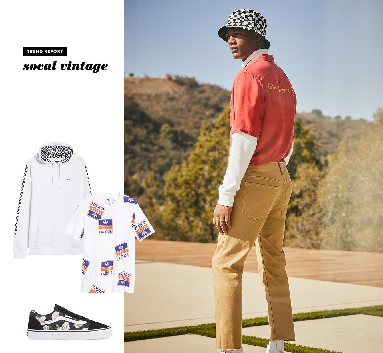 Men's what's now trend: SoCal vintage.
