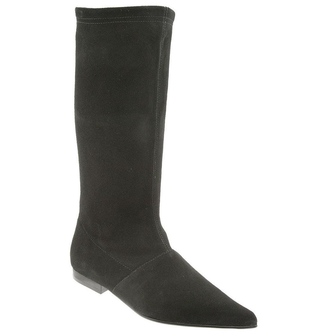 STEVE MADDEN 'Lillian Flat' Boot, Main, color, BLK